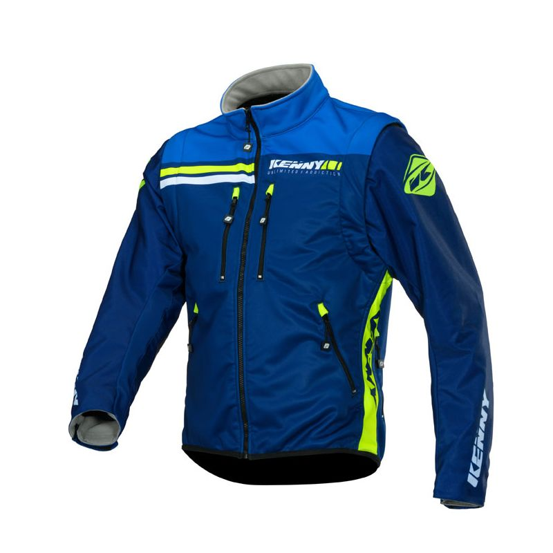 Veste enduro Kenny SOFTSHELL ENDURO - NAVY NEON YELLOW 2020