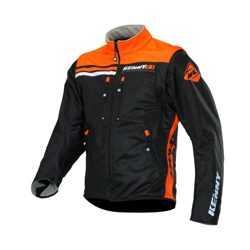 Veste enduro Kenny SOFTSHELL ENDURO - BLACK NEON ORANGE 2020