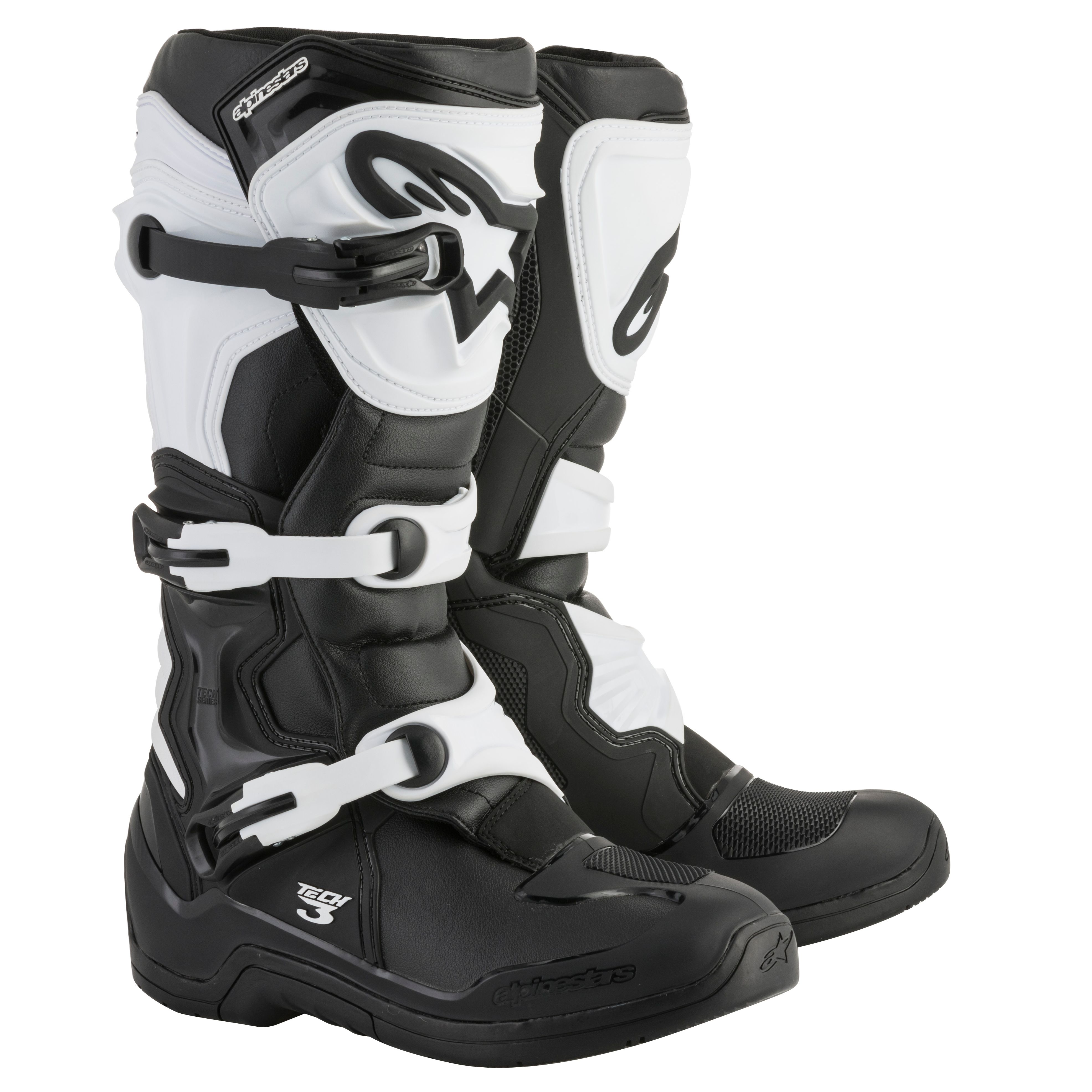 Bottes cross Alpinestars TECH 3 BLACK WHITE 2018