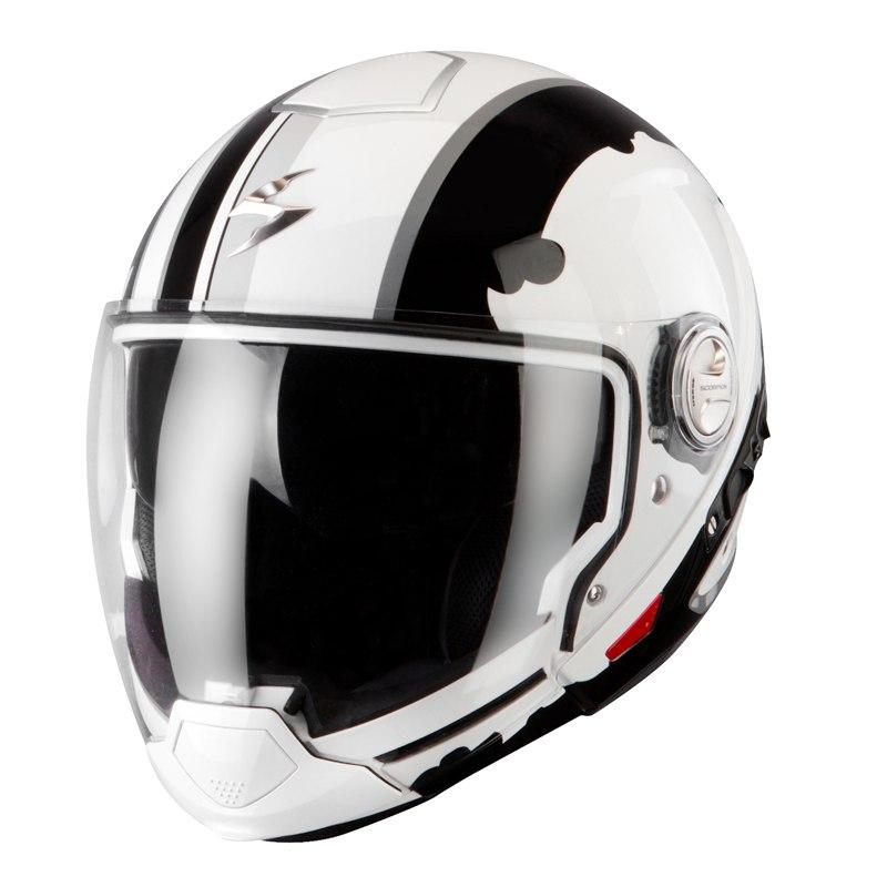 casque scorpion exo exo 300 air gunner white black casque jet. Black Bedroom Furniture Sets. Home Design Ideas