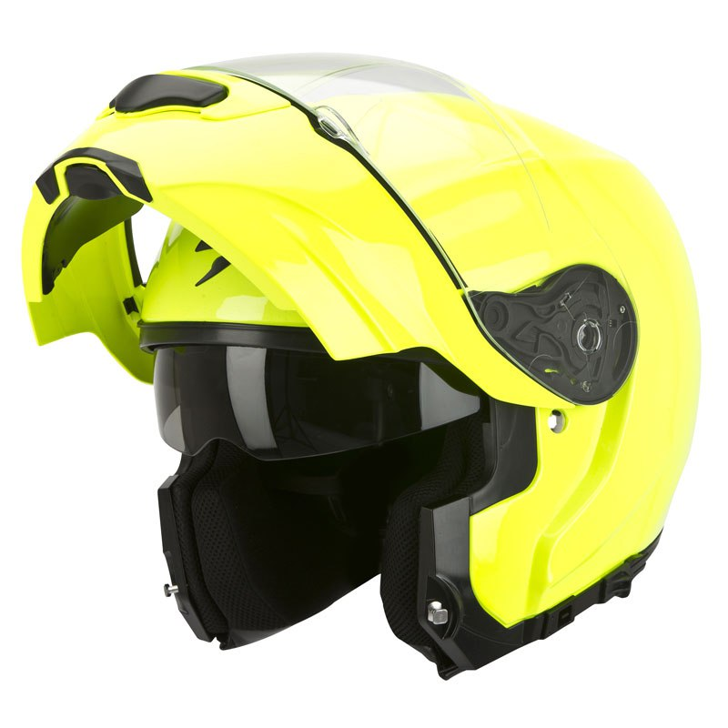 casque scorpion exo exo 3000 air jaune fluo casque modulable. Black Bedroom Furniture Sets. Home Design Ideas