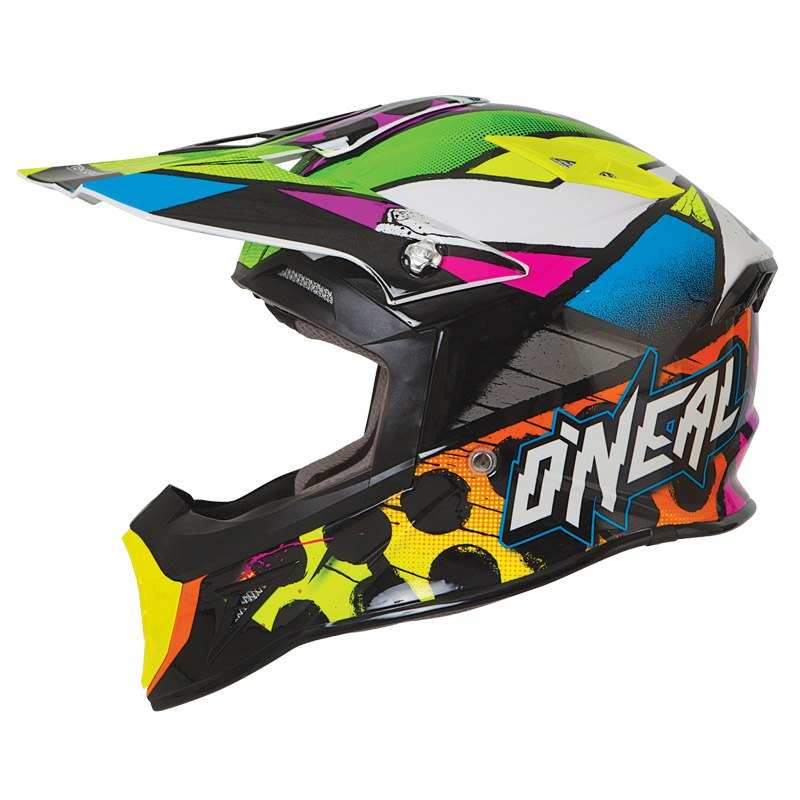 Casque Cross O'neal 10 Series Glitch 2017 Noir Multicolor