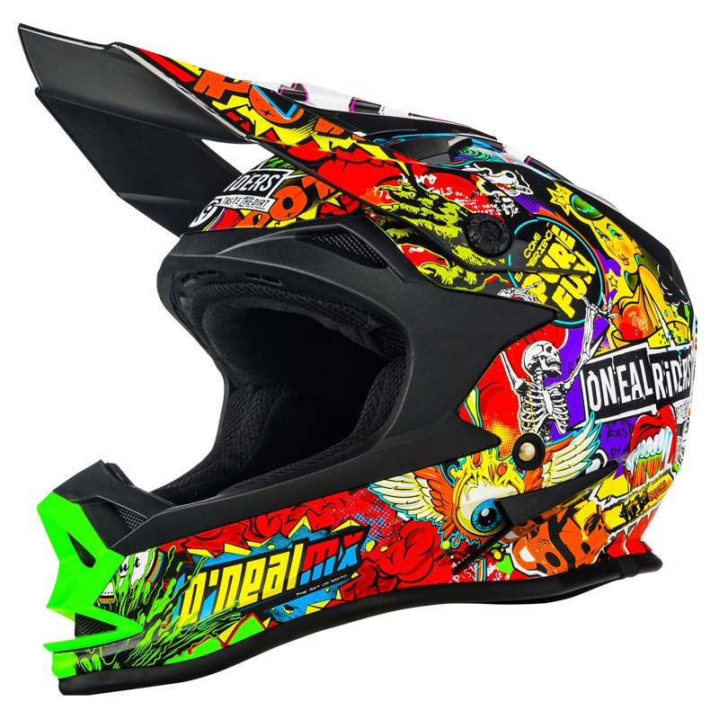Casque Cross O'neal Series 7 Evo Crank - Noir Multicolore (mat) -