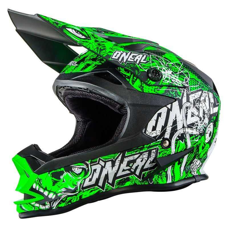 Casque Cross O'neal Series 7 Evo Menace - Vert Fluo -