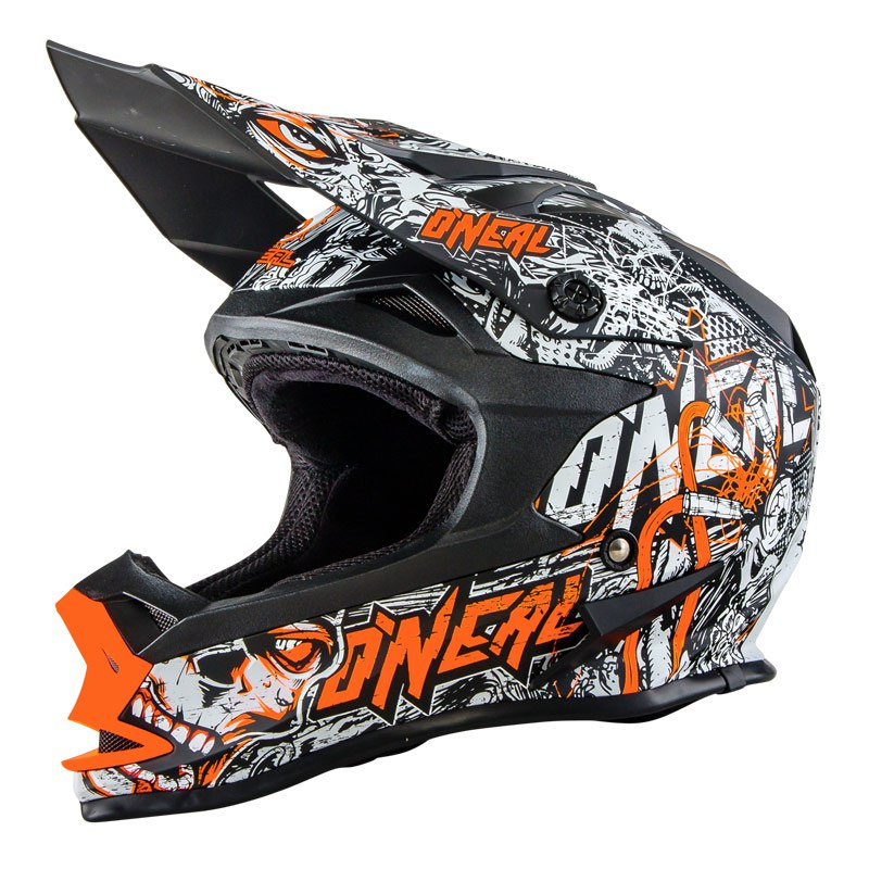 Casque Cross O'neal Series 7 Evo Menace - Orange (mat) -