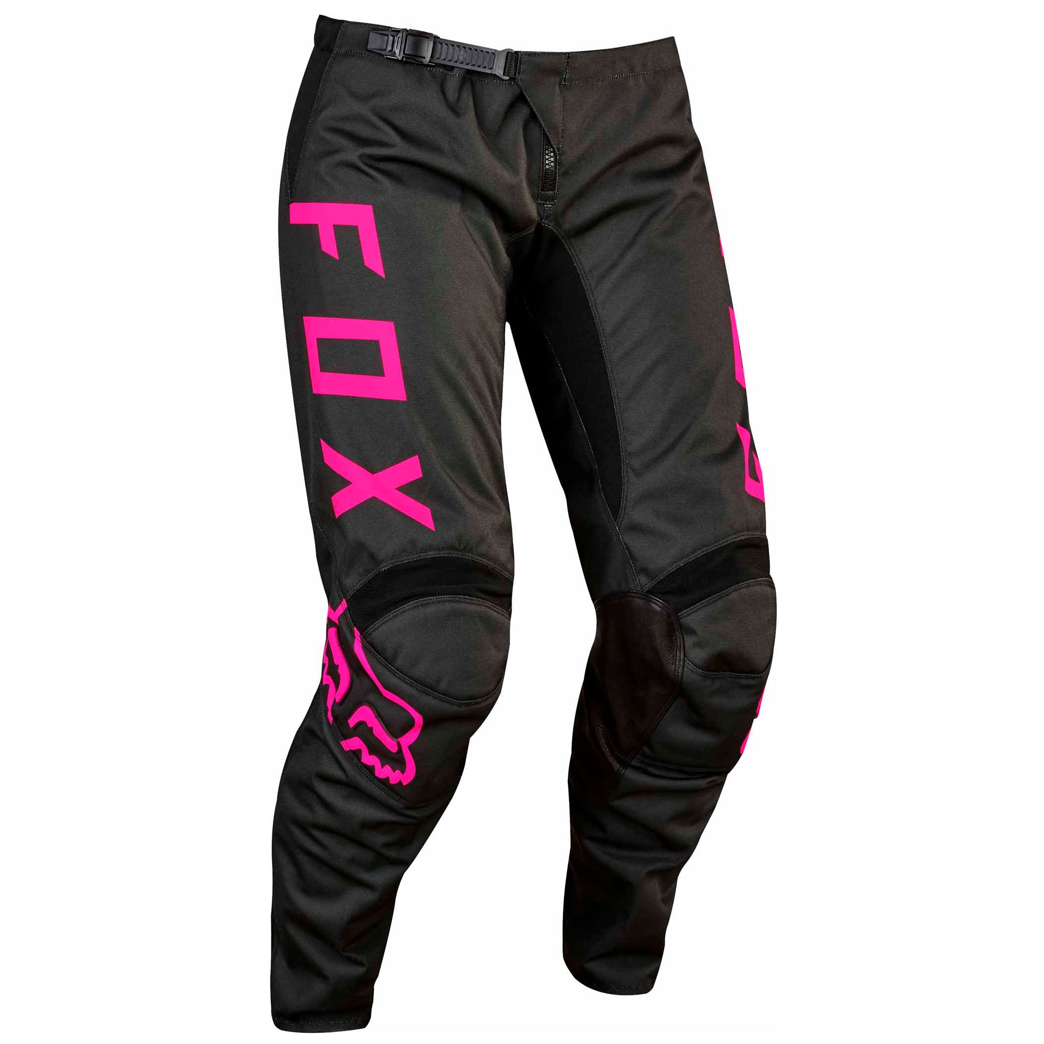 pantalon cross fox 180 womens 2017 noir rose enduro. Black Bedroom Furniture Sets. Home Design Ideas