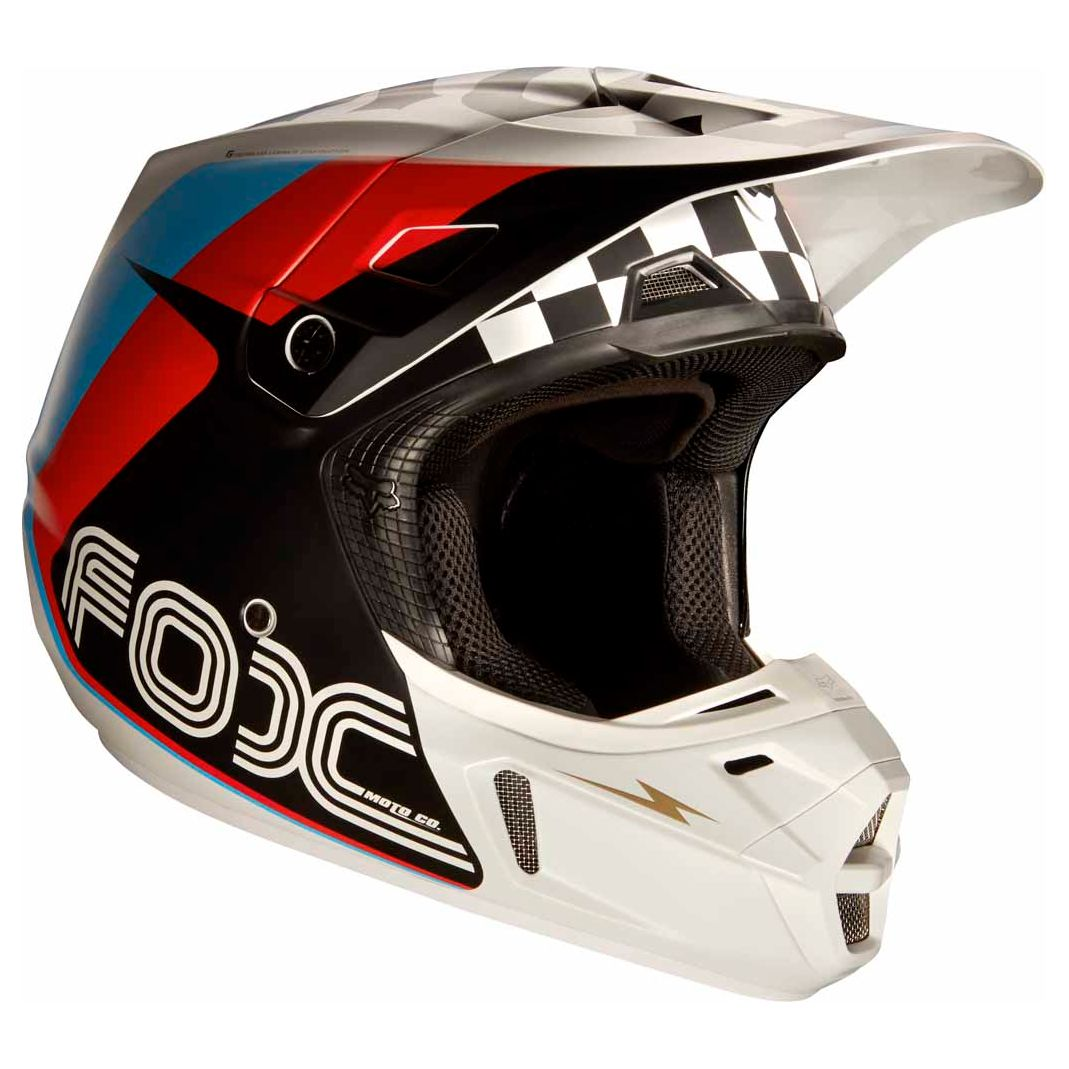 Casque cross Fox V2 ROHR - NOIR (mat)