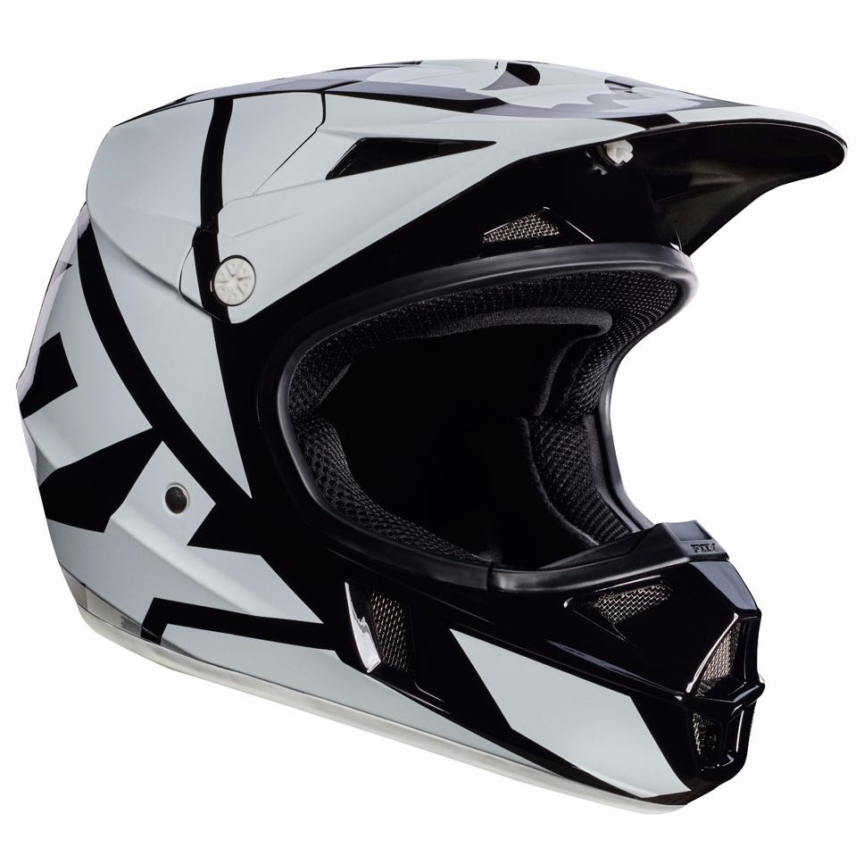 Casque cross Fox V1 YOUTH RACE  - NOIR 2017