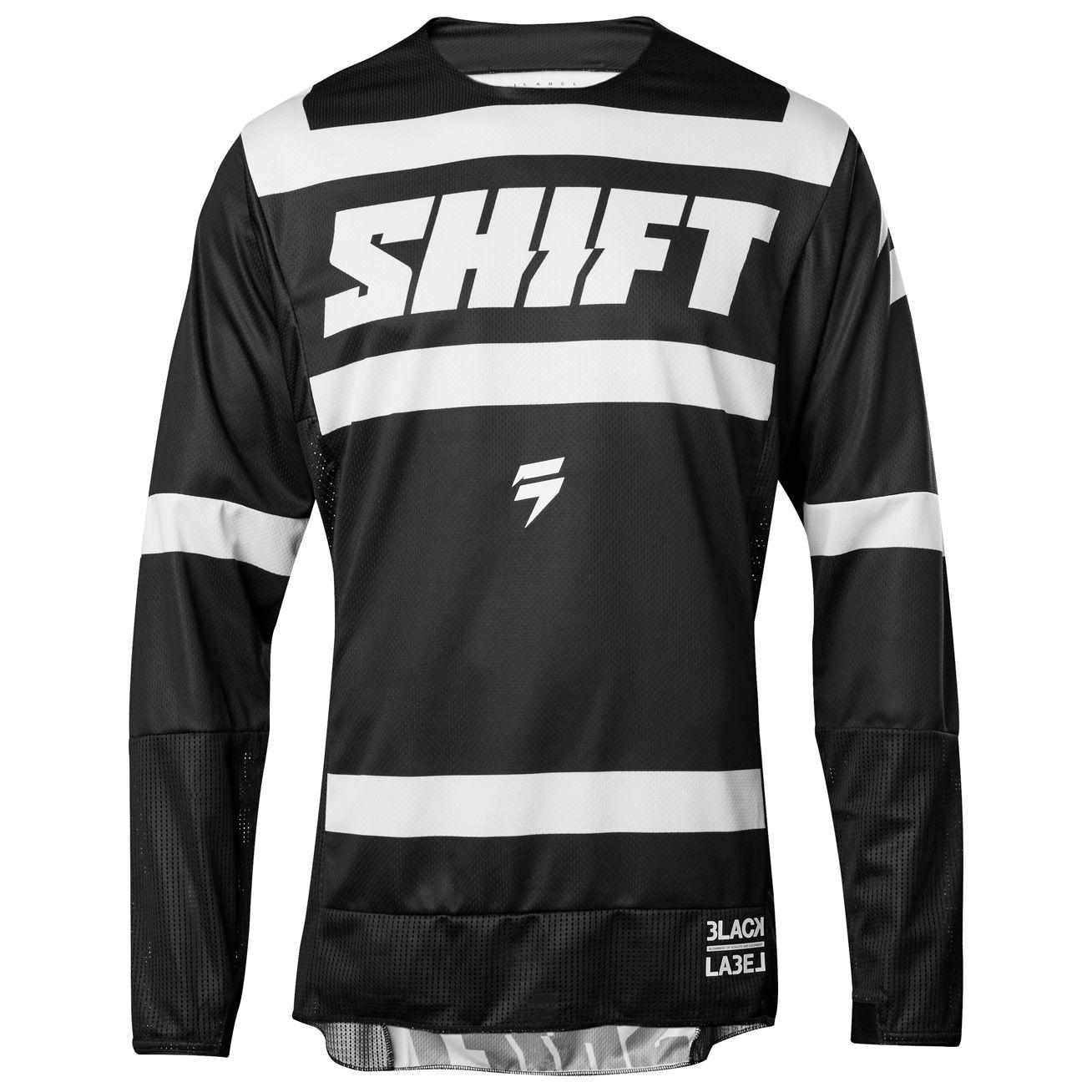 maillot cross shift black strike noir blanc 2018 tenue cross. Black Bedroom Furniture Sets. Home Design Ideas