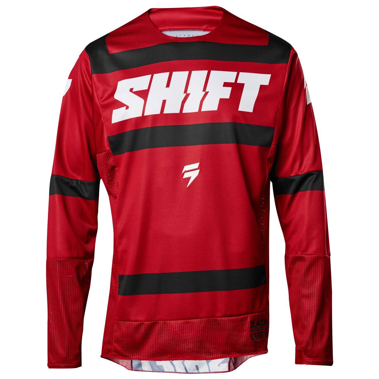 maillot cross shift black strike rouge fonce 2018 tenue cross. Black Bedroom Furniture Sets. Home Design Ideas