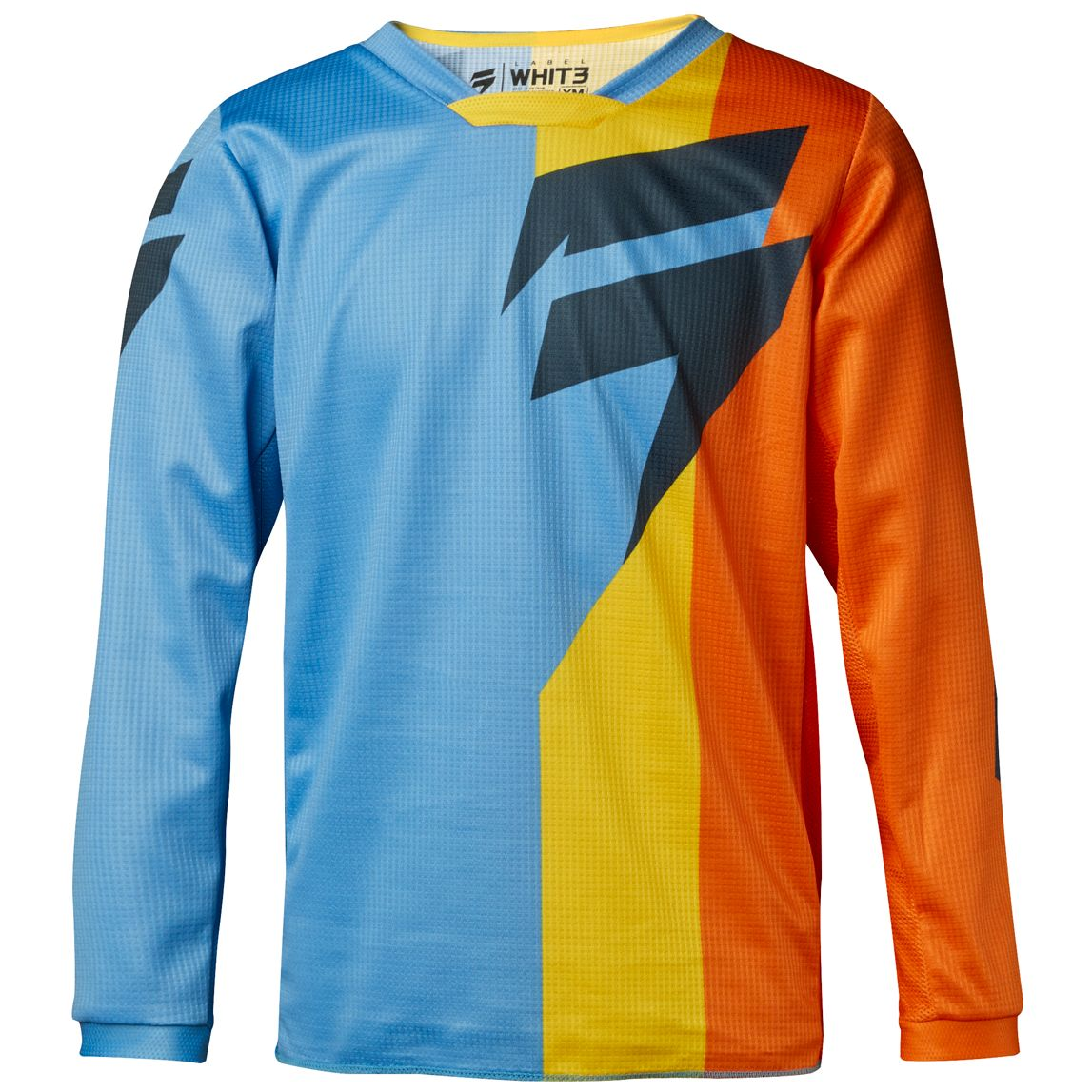 Maillot cross Shift YOUTH WHITE TARMAC - ORANGE BLEU - 2018