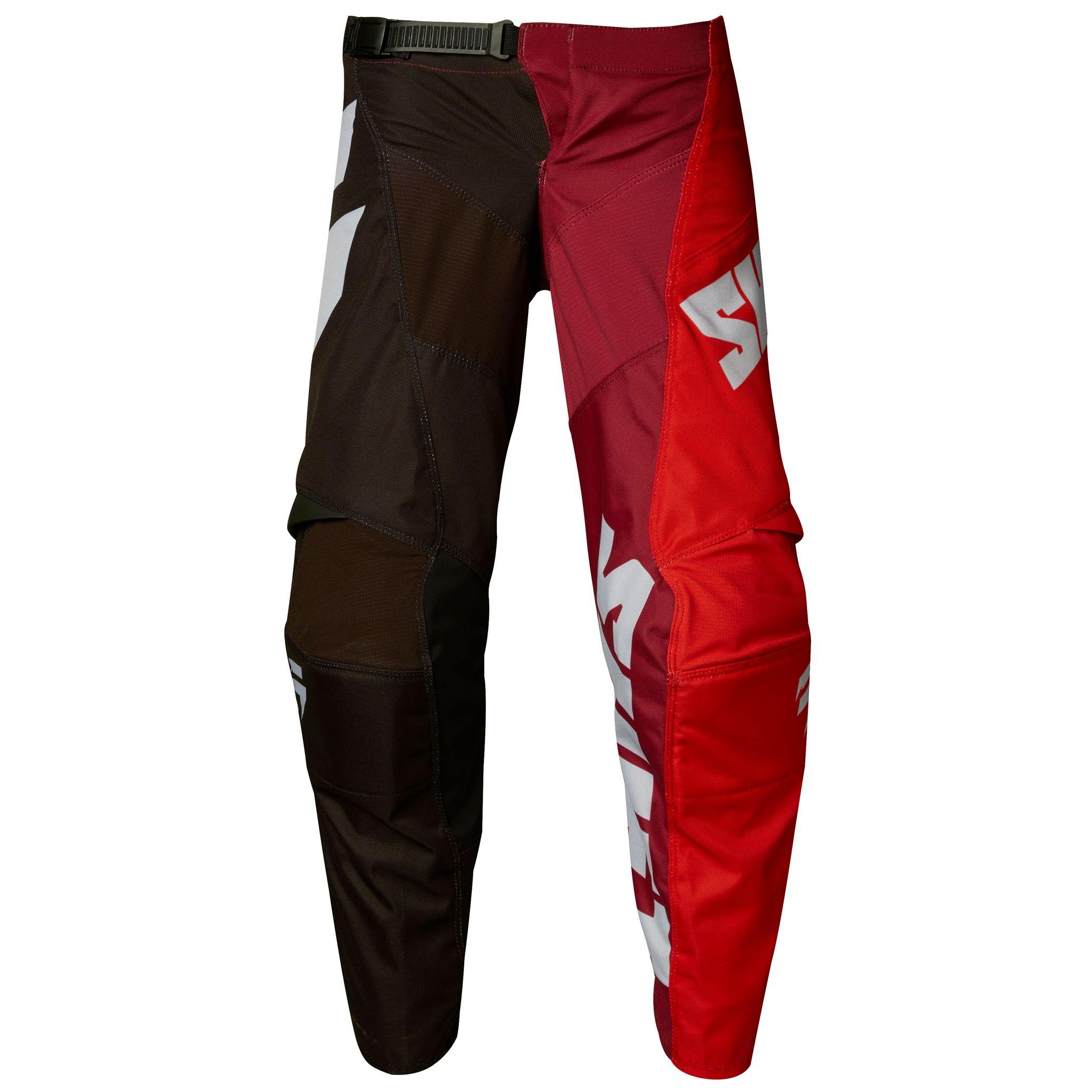 pantalon cross shift youth white tarmac noir rouge 2018 tenue cross. Black Bedroom Furniture Sets. Home Design Ideas