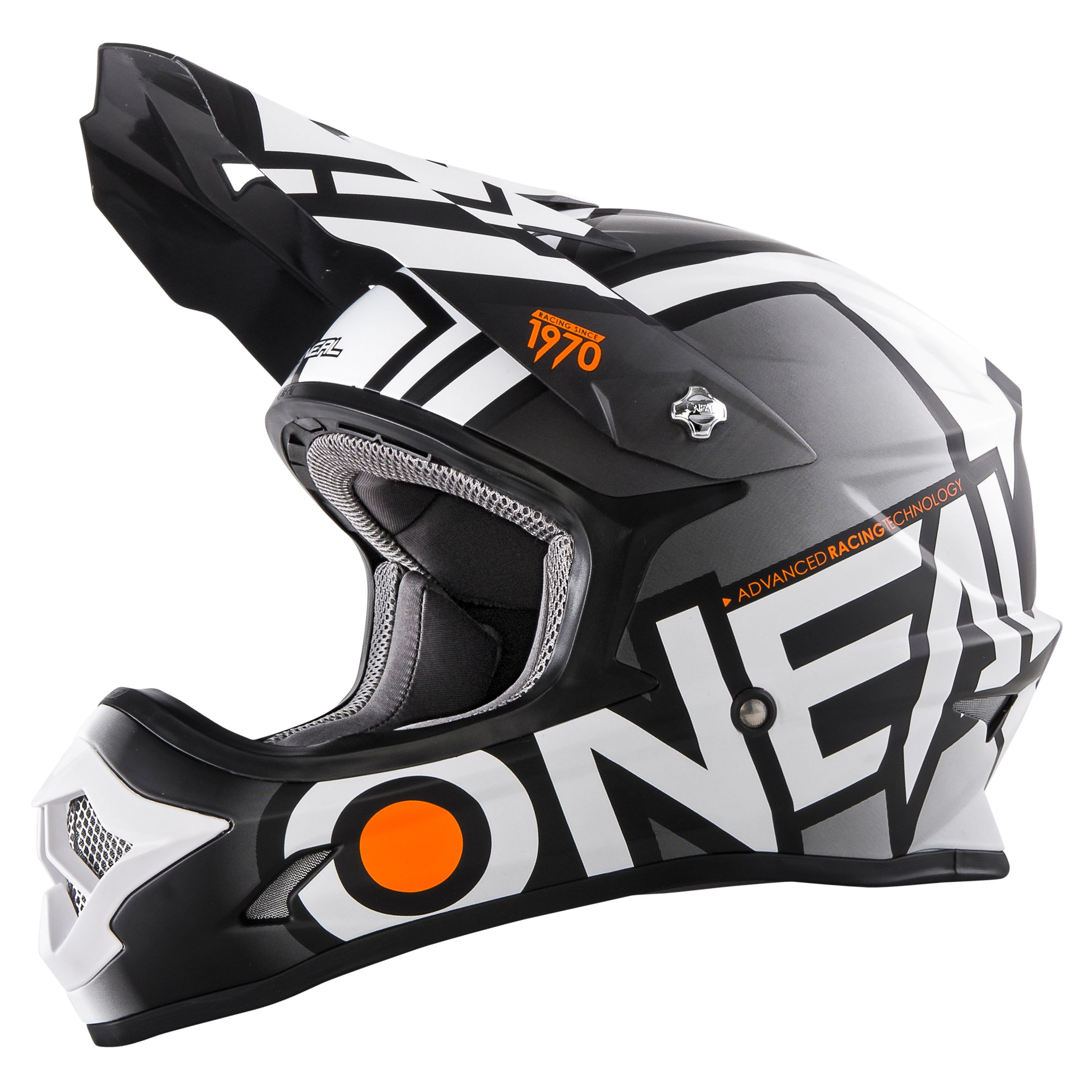 Casque Cross O'neal Series 3 Radium - Noir Blanc (mat) -