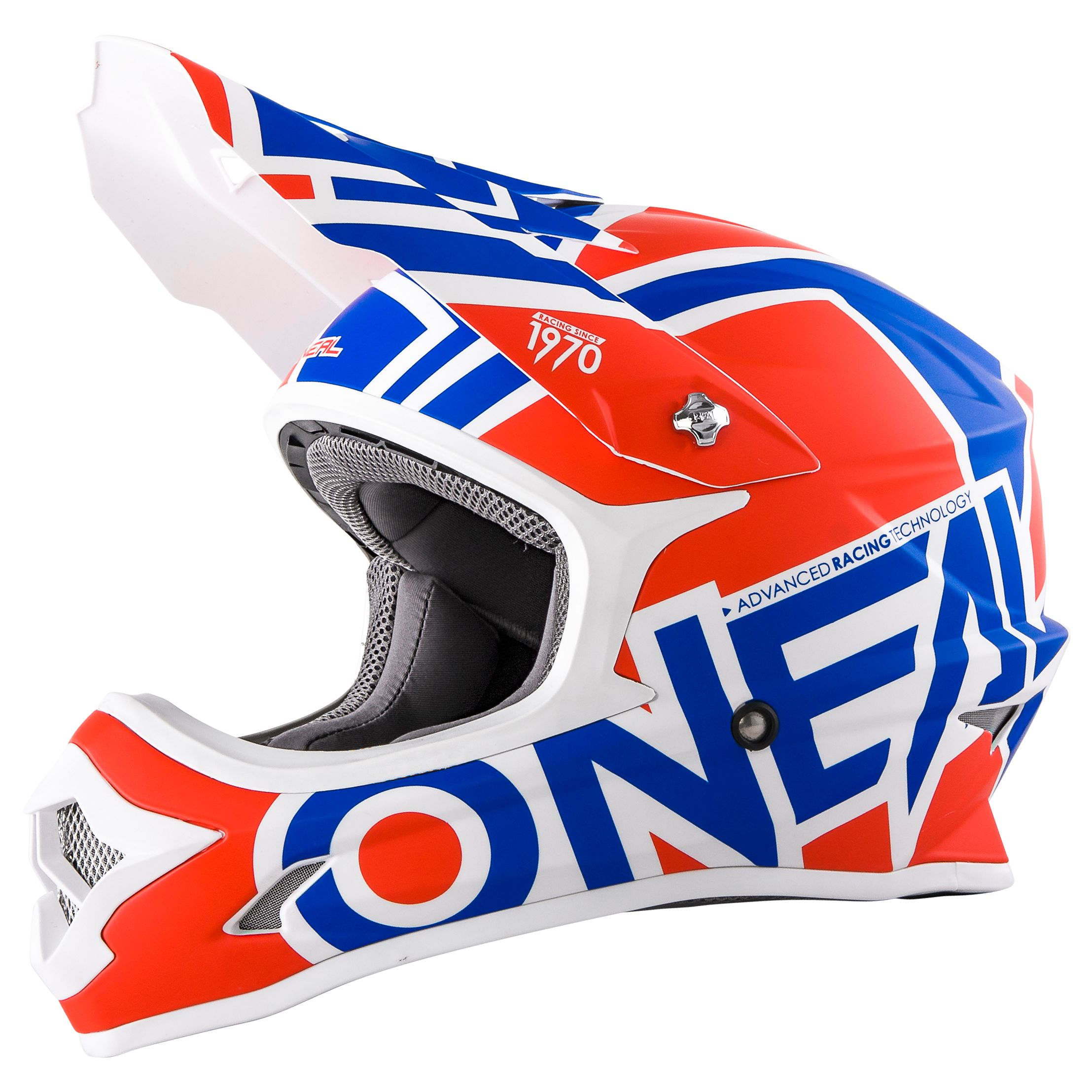 Casque Cross O'neal Series 3 Radium Rouge Bleu Blanc (mat)