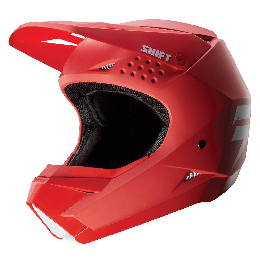 Casque cross Shift WHITE - ROUGE - 2018
