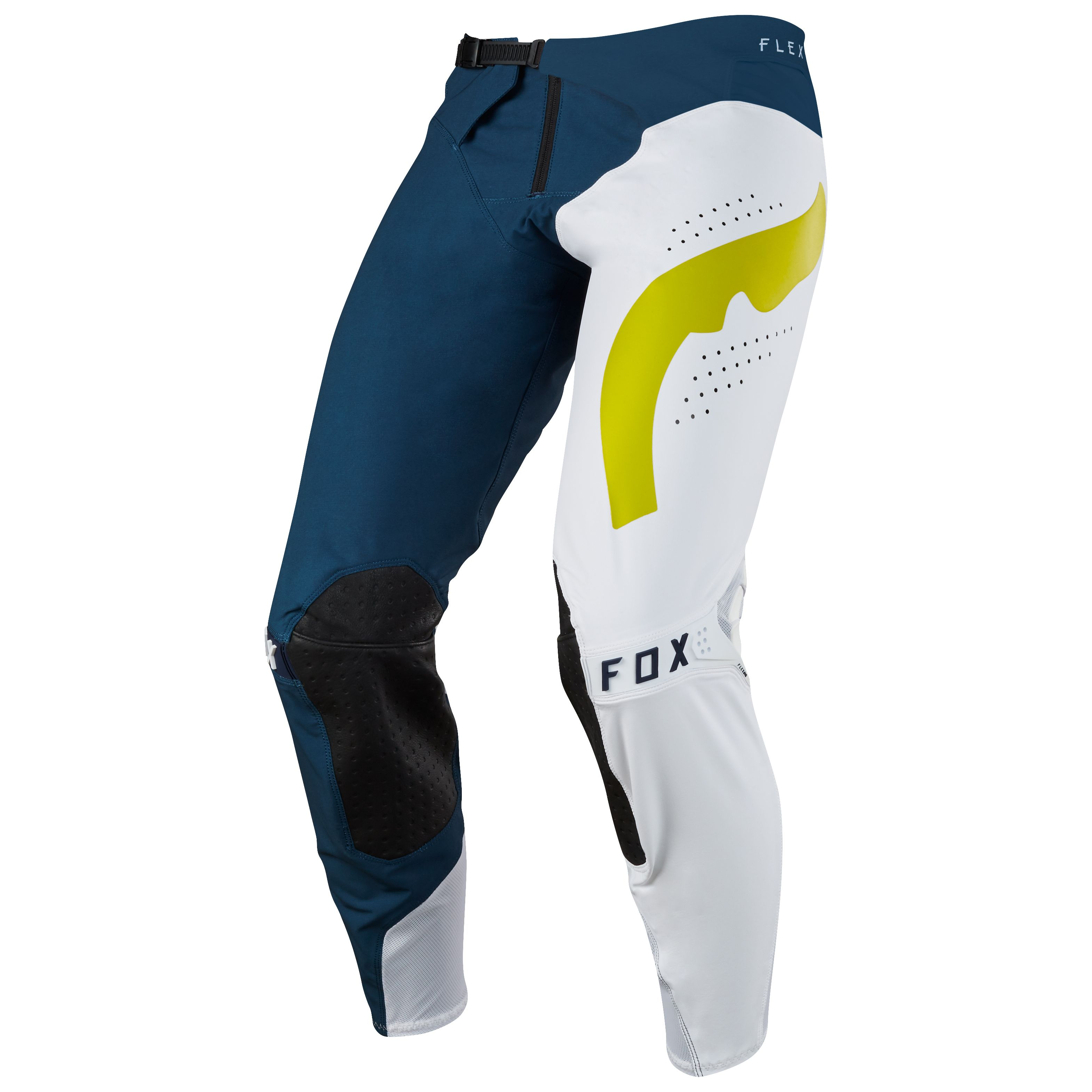 Pantalon cross Fox FLEXAIR HIFEYE - BLEU MARINE BLANC -  2018