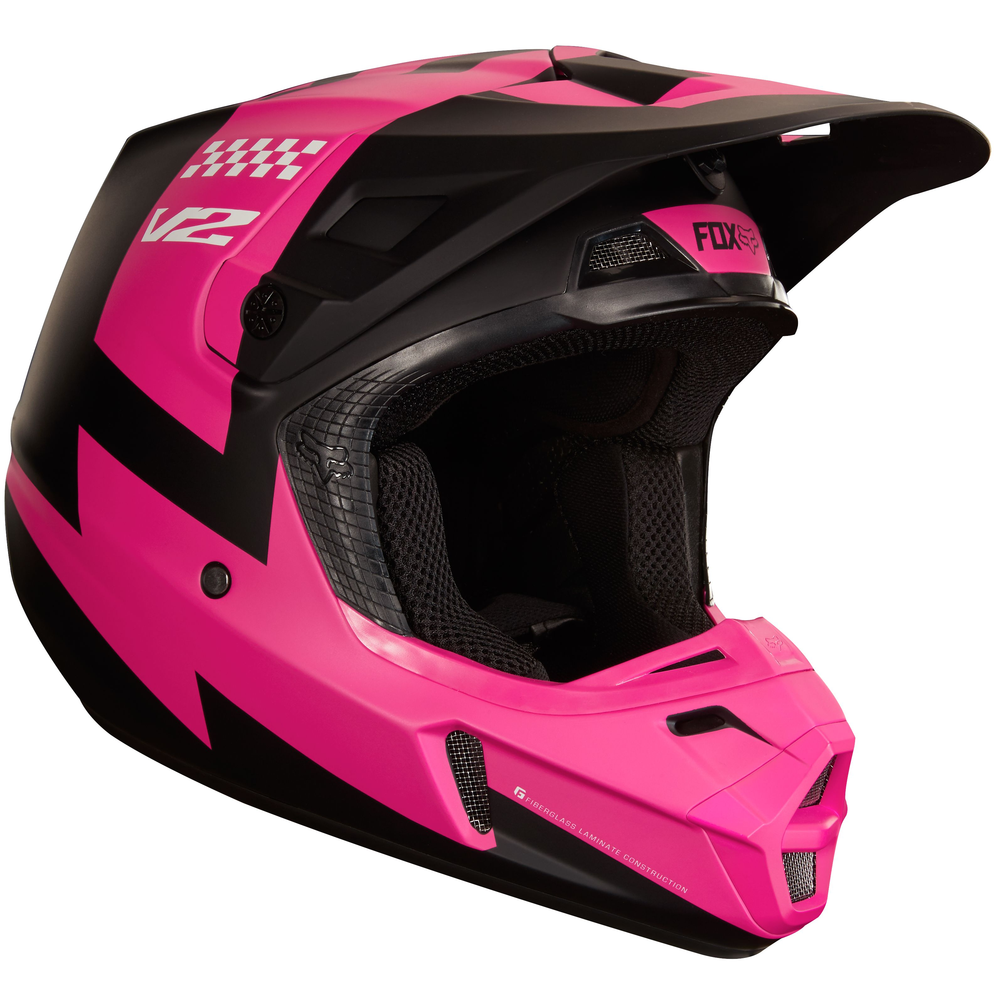 Casque cross Fox V2 MASTAR - NOIR (Mat) -  2018