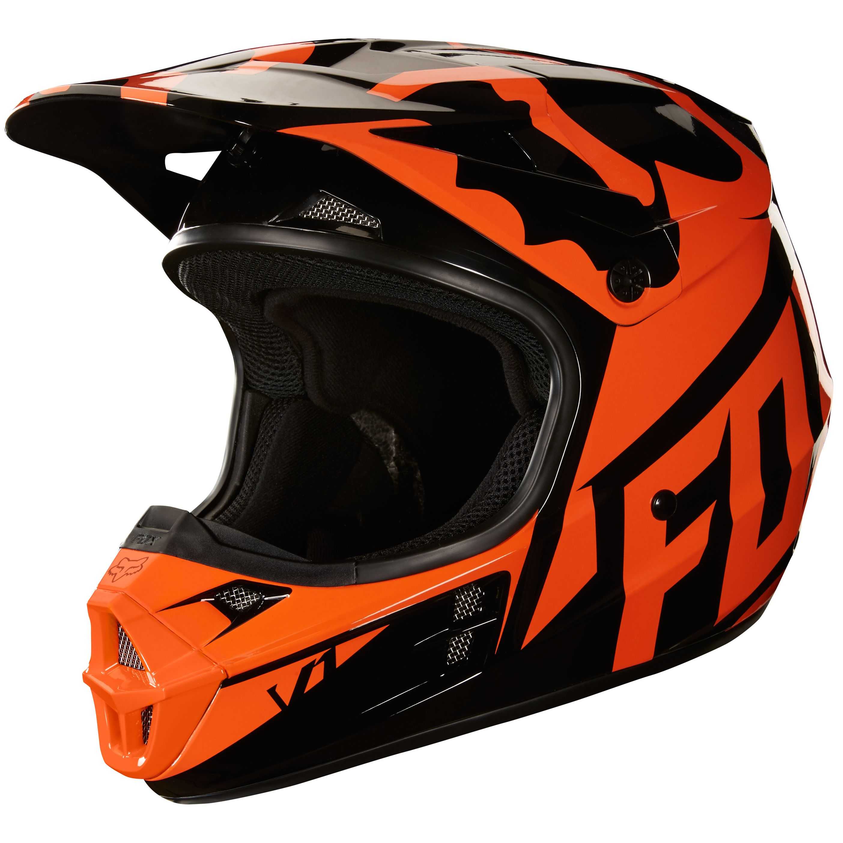 casque cross fox v1 race orange 2018 casque cross. Black Bedroom Furniture Sets. Home Design Ideas