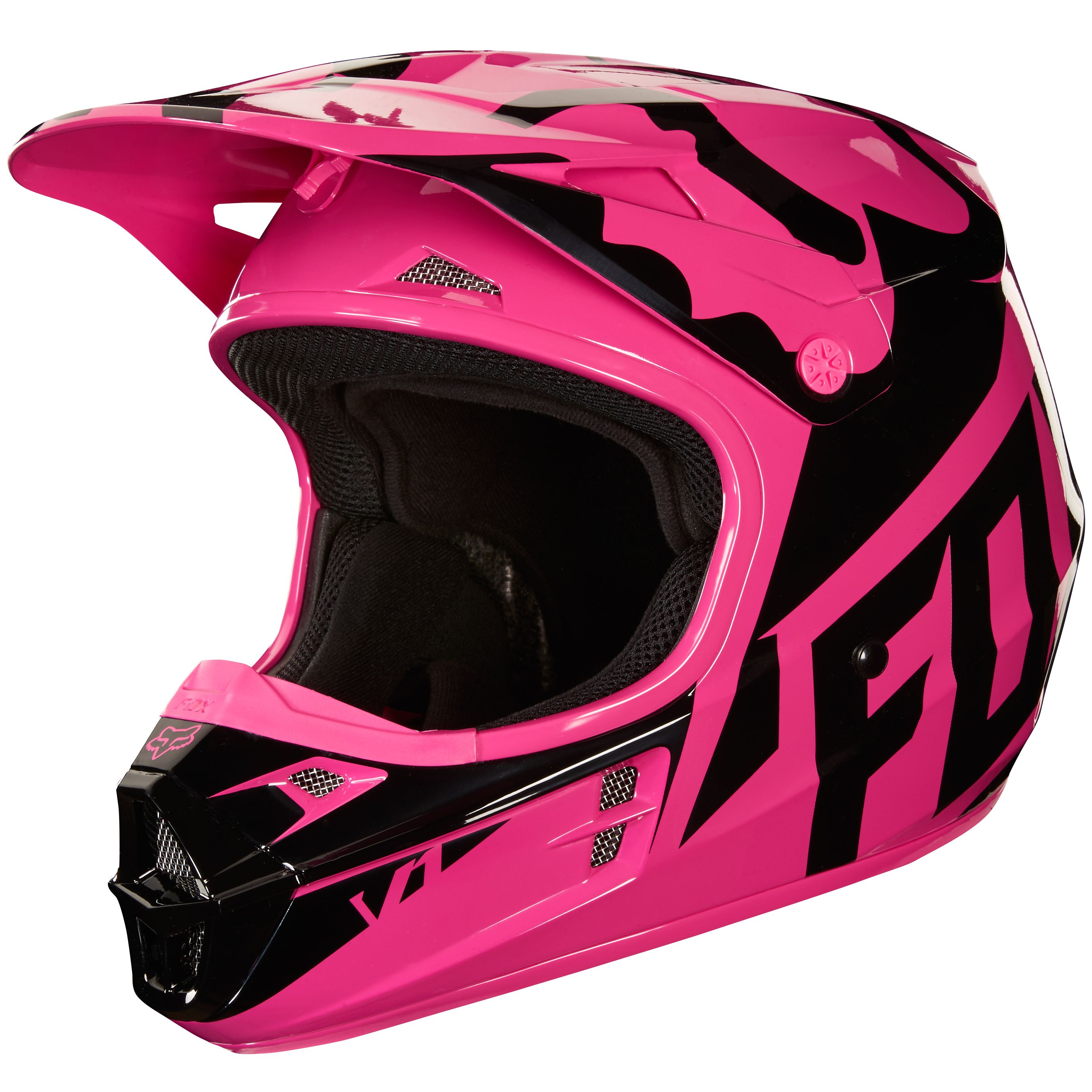 Casque cross Fox V1 RACE - ROSE -  2018