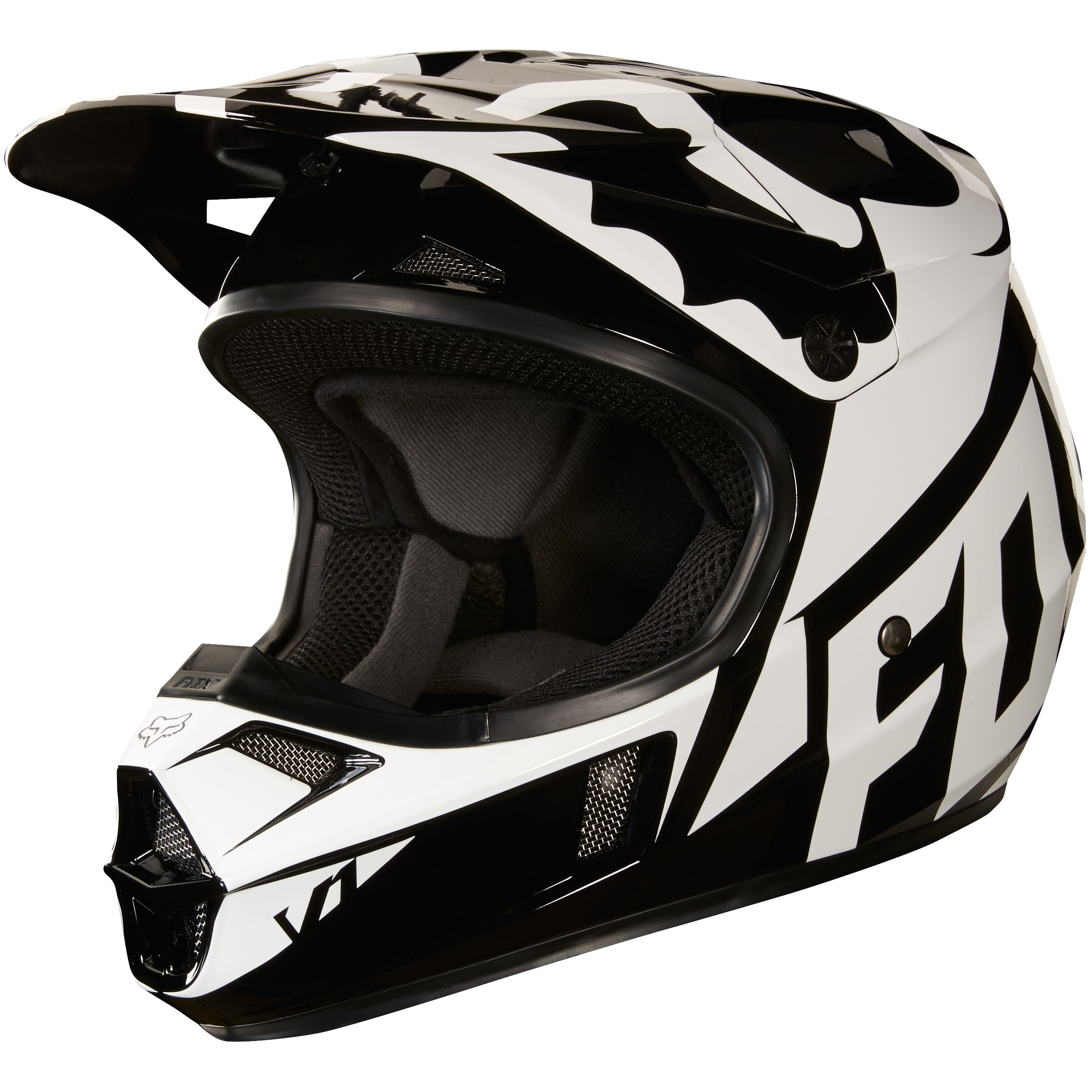 Casque cross Fox V1 YOUTH RACE - NOIR -  2018