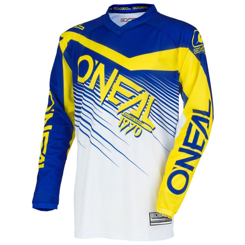Maillot Cross O'neal Element Racewear Youth - Bleu Jaune -