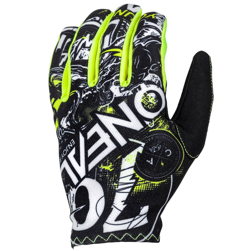 Gants cross O'Neal MATRIX ATTACK - NOIR JAUNE FLUO -  2018