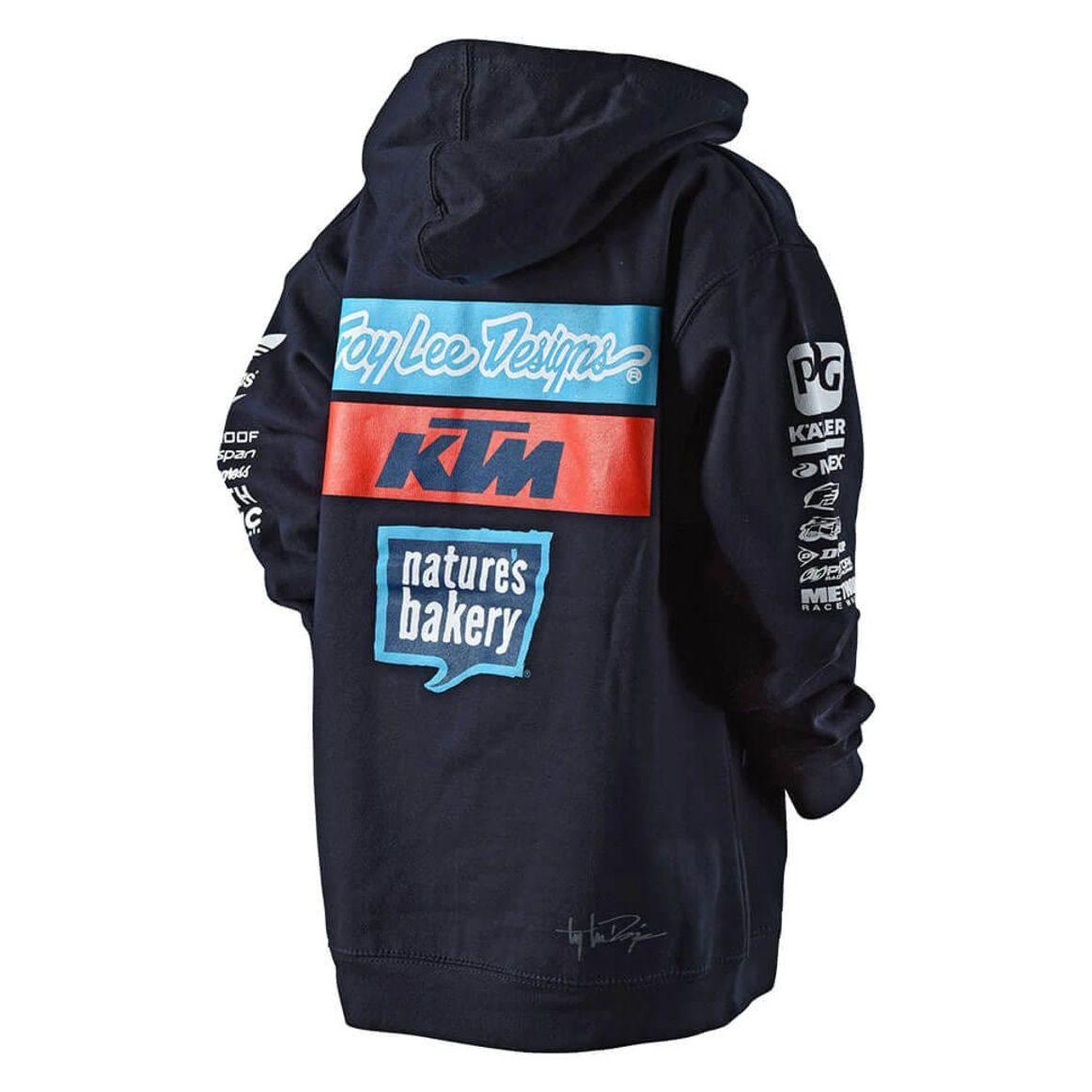 39bb8b1a5f02a Sweat TroyLee design TLD KTM TEAM YOUTH PULLOVER FLEECE NAVY ...