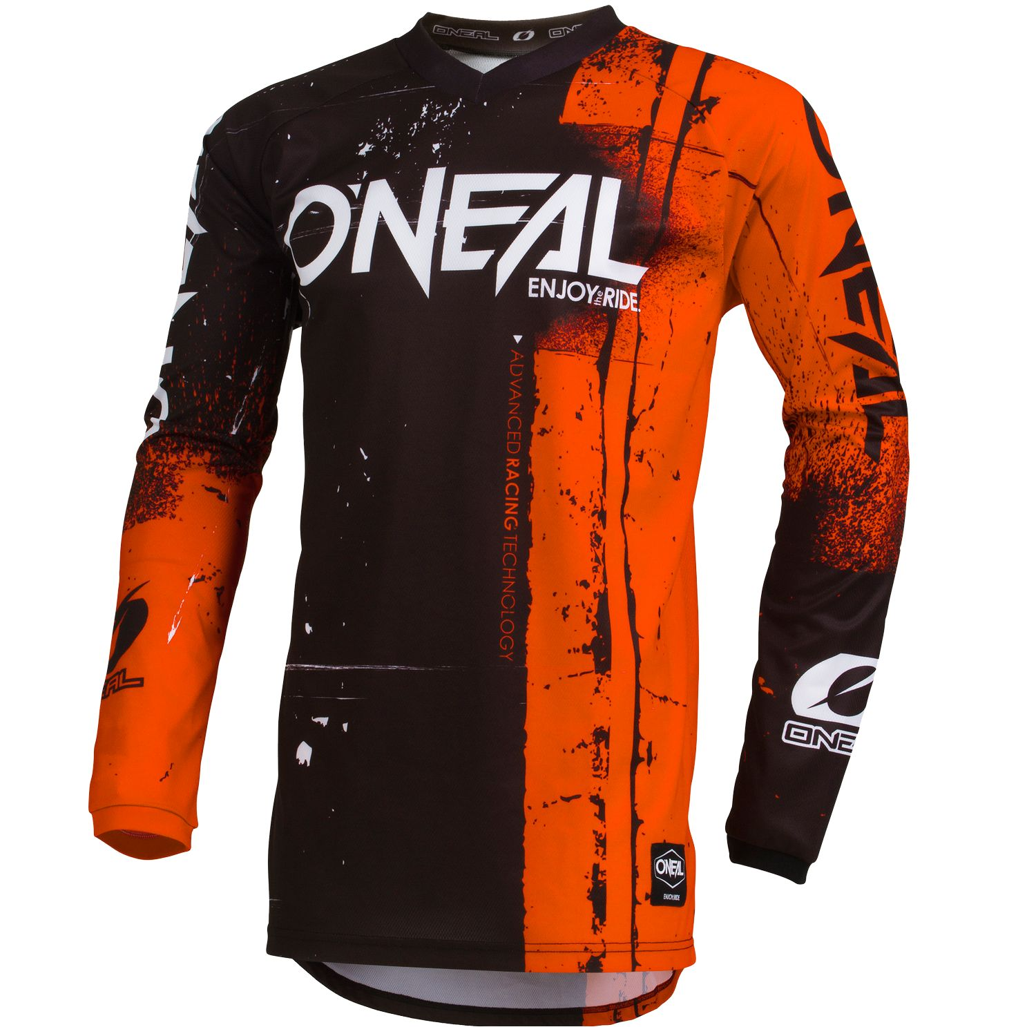 Maillot cross O'Neal ELEMENT - SHRED - ORANGE 2019