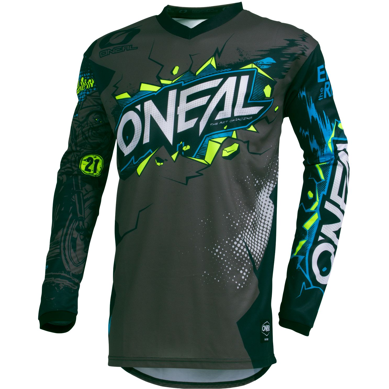 Maillot cross O'Neal ELEMENT - VILLAIN - GRAY 2020