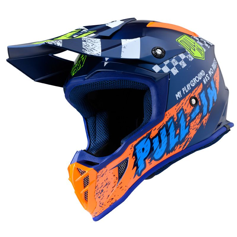 Casque cross Pull-in TRASH NAVY ORANGE ENFANT