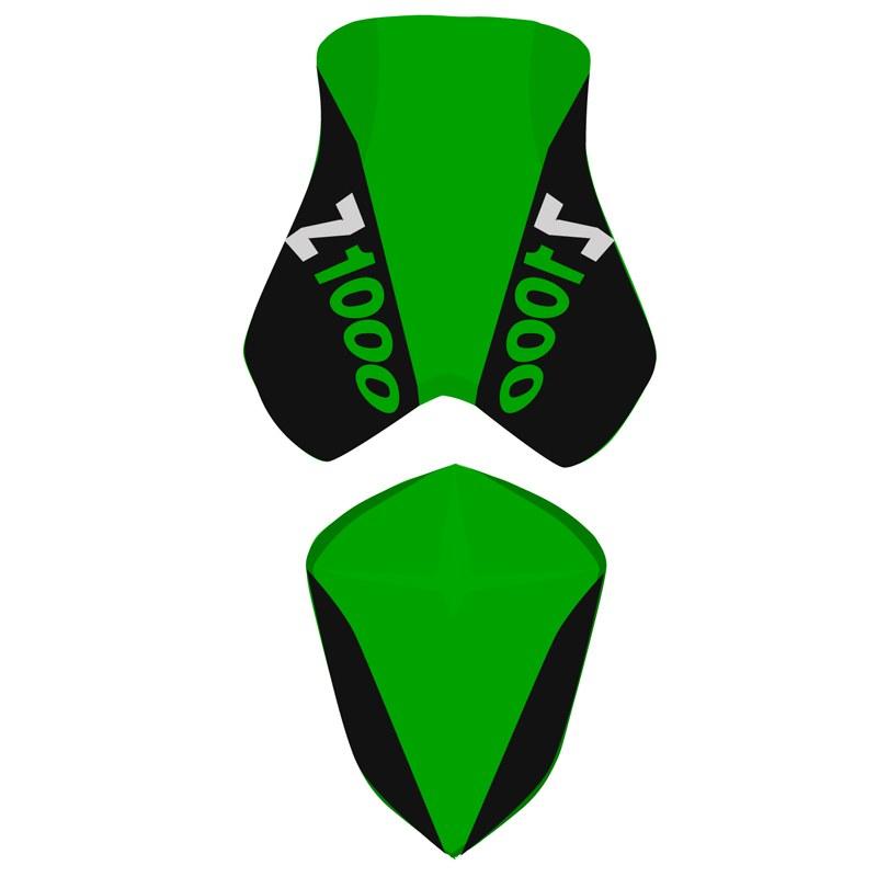 Housse De Selle Bagster Noir/vert/lettres Vertes
