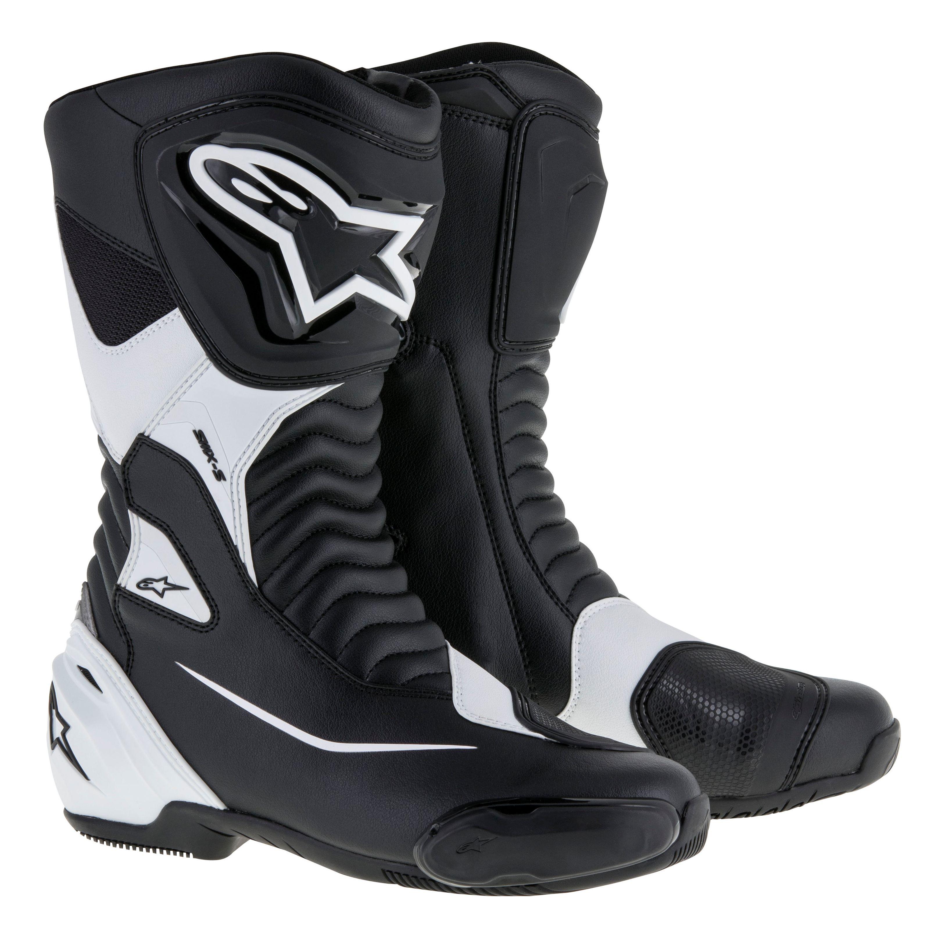 bottes smx s alpinestars noir blanc