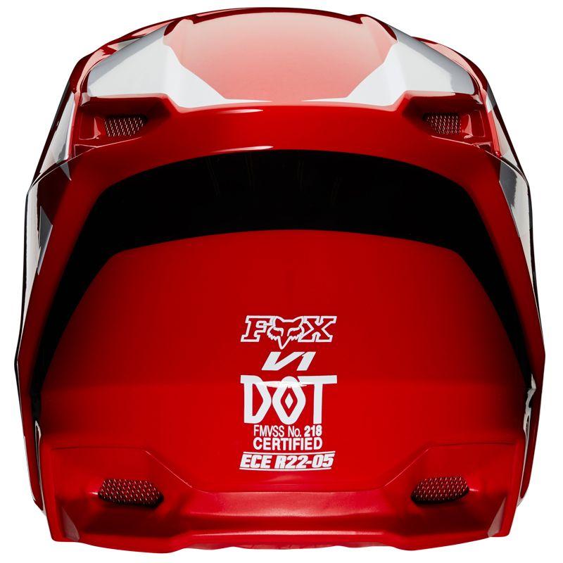 Casque cross Fox V1 - PRIX - FLAME RED 2020