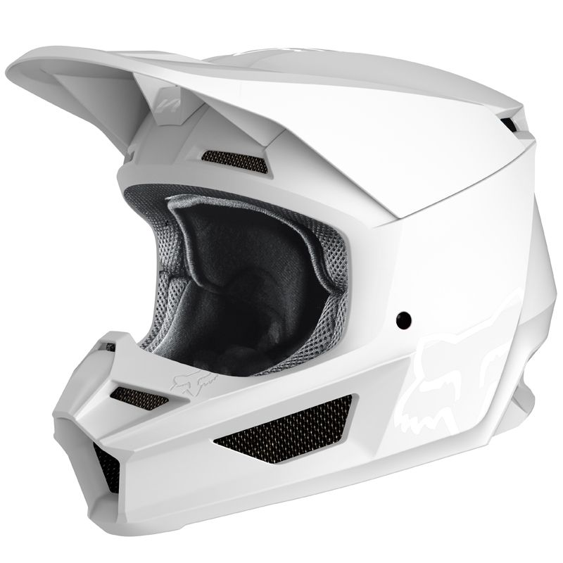 Casque cross Fox V1 - WHITE MATT 2020
