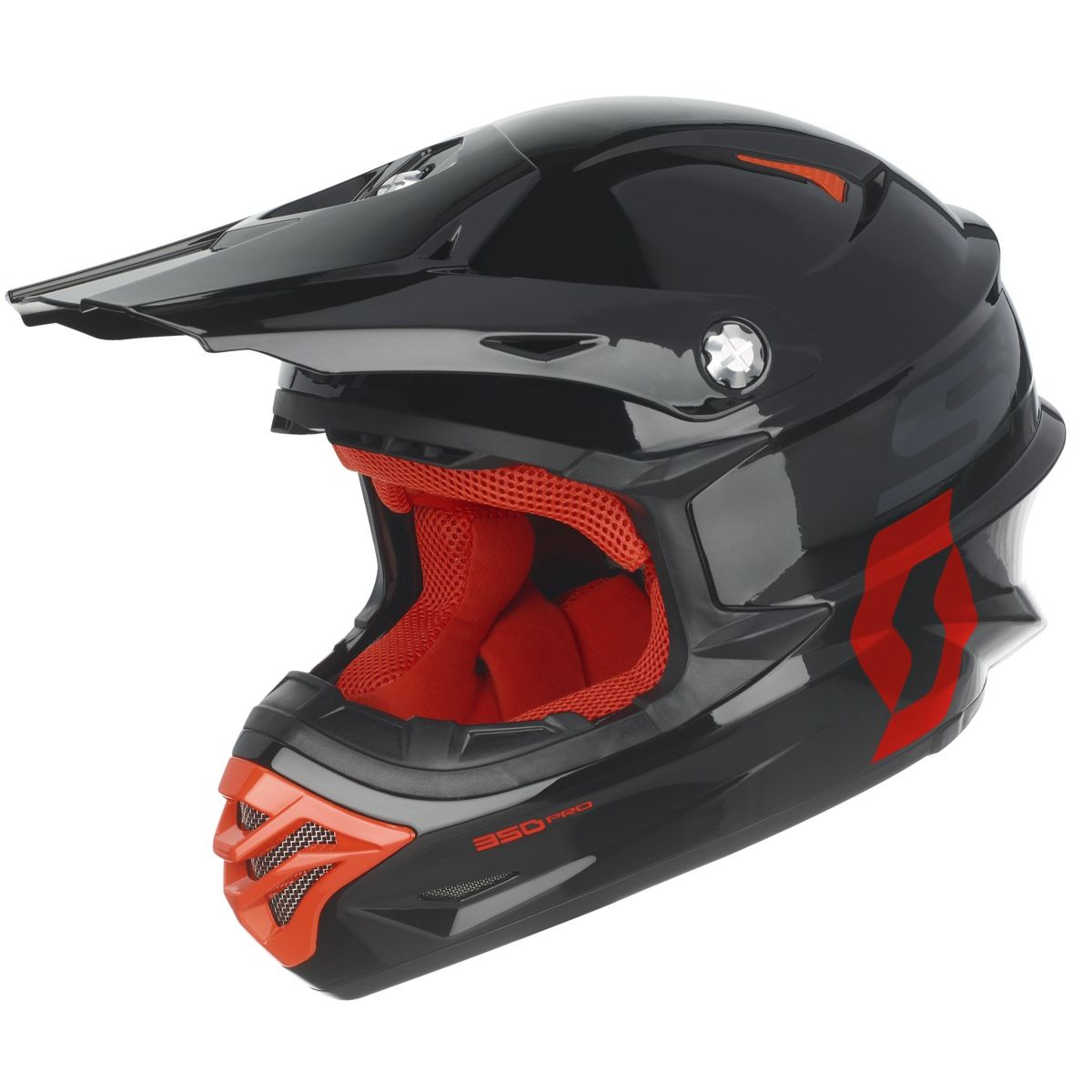 Casque cross Scott destockage 350 PRO BLACK ORANGE 2017