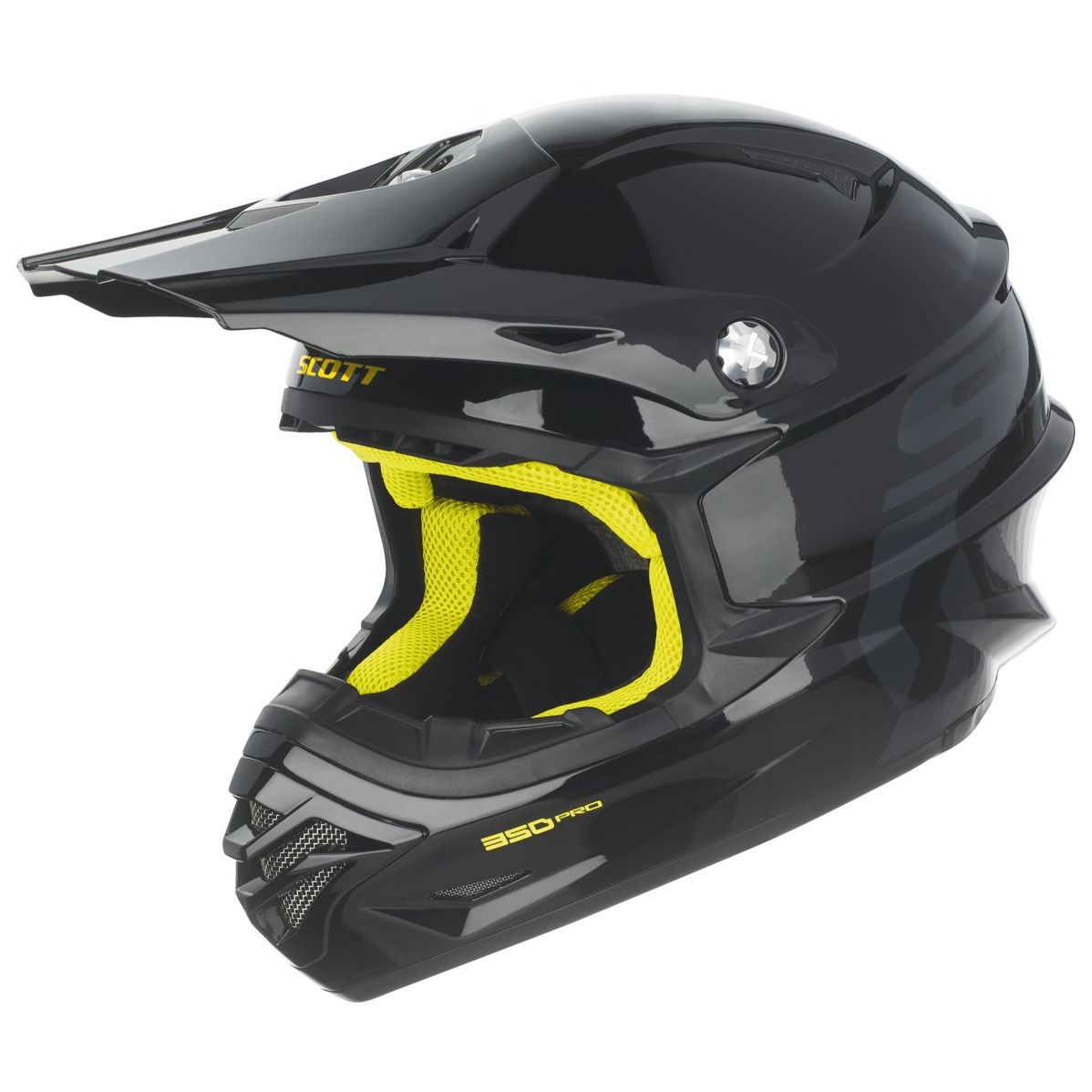 Casque cross Scott destockage 350 PRO BLACK YELLOW 2017