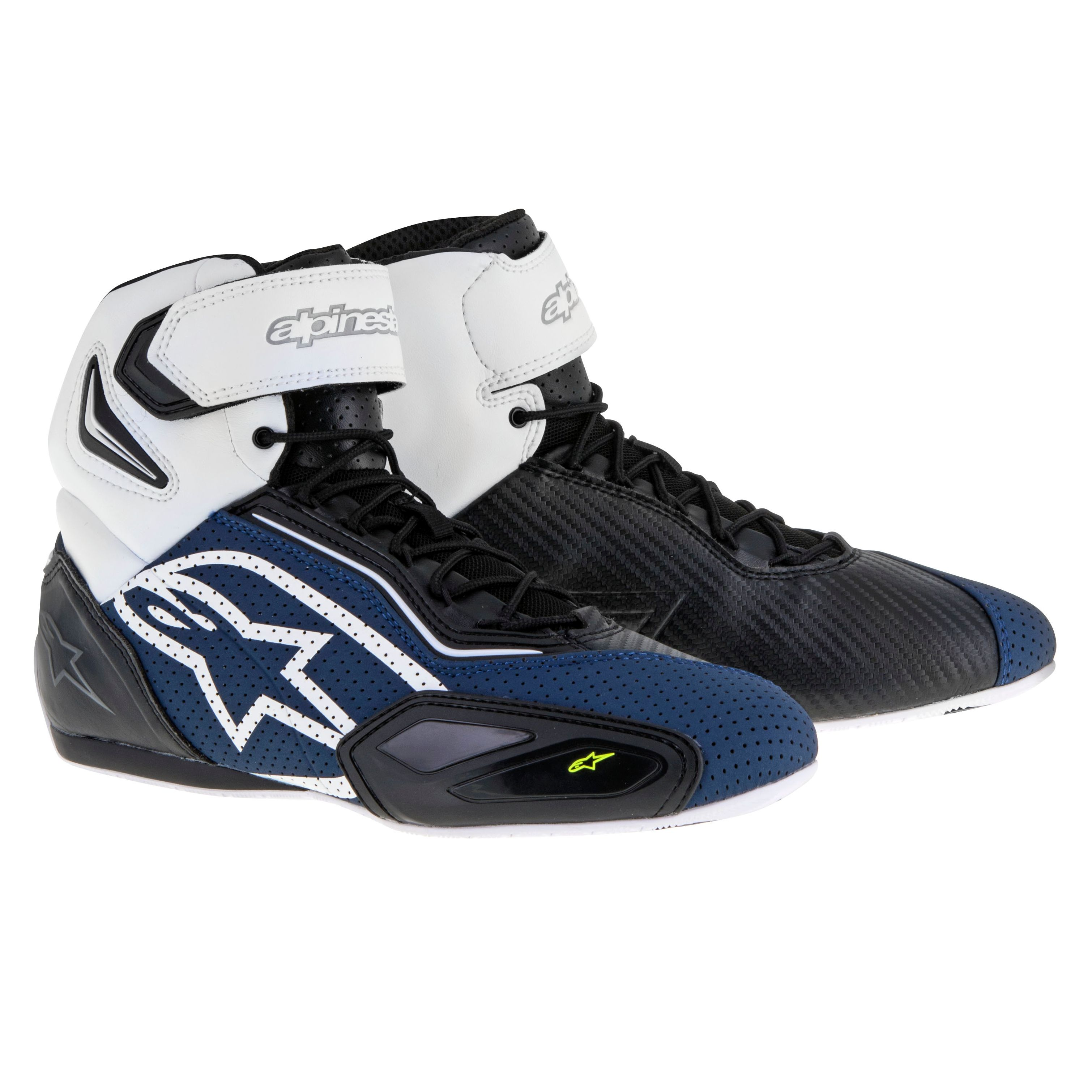 Bottes ALPINESTARS Faster-2 Vented Black / Navy / White / Yellow Fluo 8.5 (EU 41) t3KroXwp