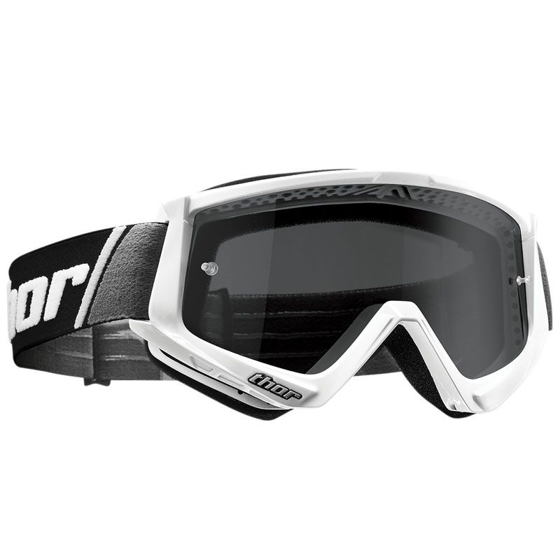 Masque cross Thor COMBAT SAND WHITE BLACK 2021