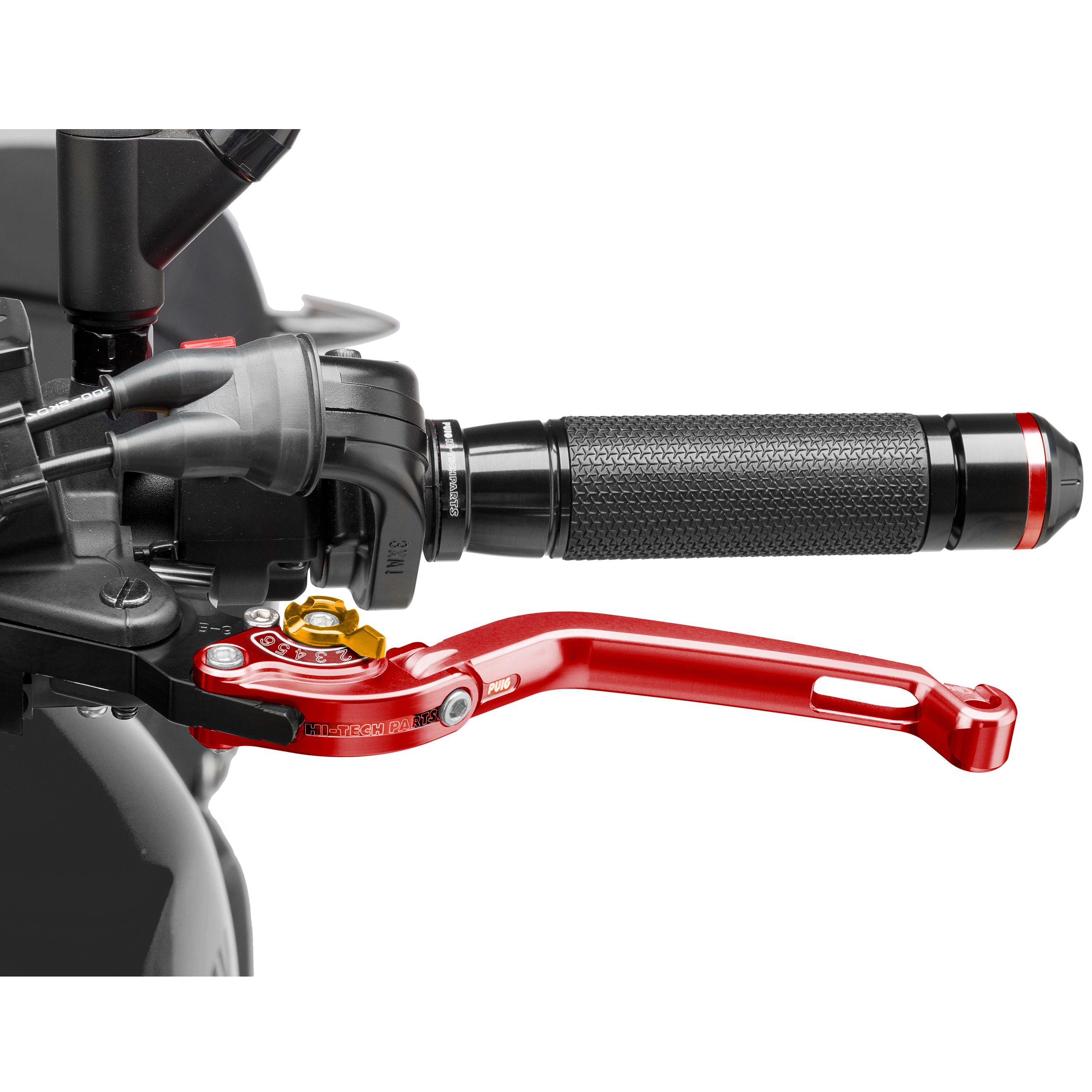 levier d 39 embrayage puig rabattable 2 0 rouge customisation moto. Black Bedroom Furniture Sets. Home Design Ideas
