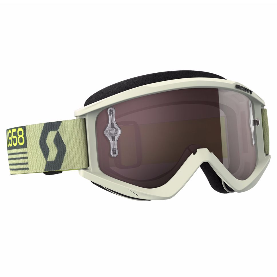 Masque Cross Scott Recoil Xi - Beige Marron - Ecran Iridium Works -