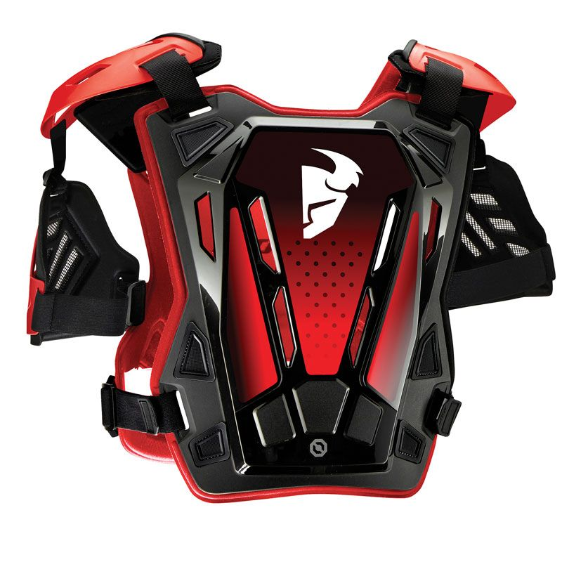 Plastron Thor GUARDIAN - ROOST DEFLECTOR - BLACK RED 2020