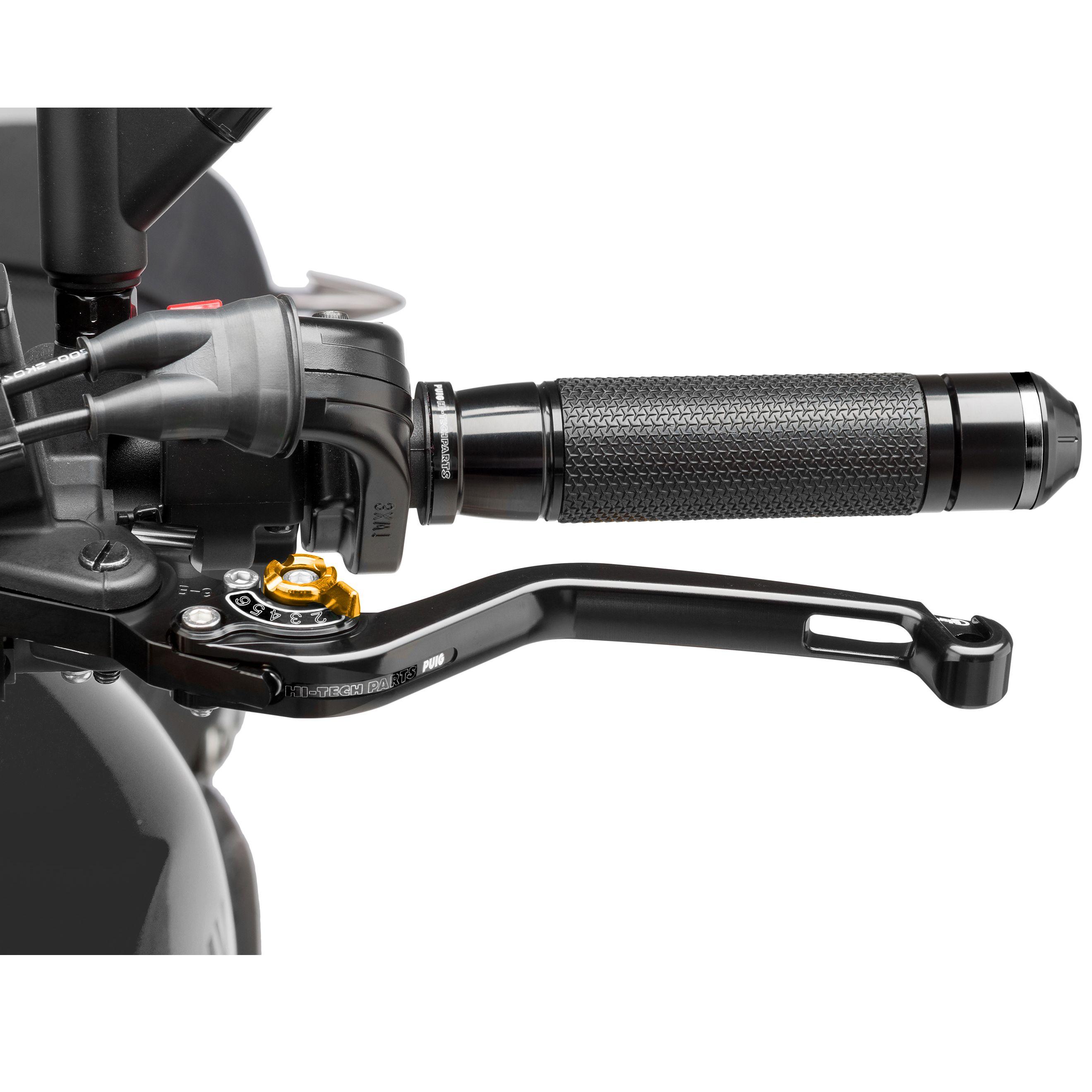 levier d 39 embrayage puig fixe 2 0 noir customisation moto. Black Bedroom Furniture Sets. Home Design Ideas