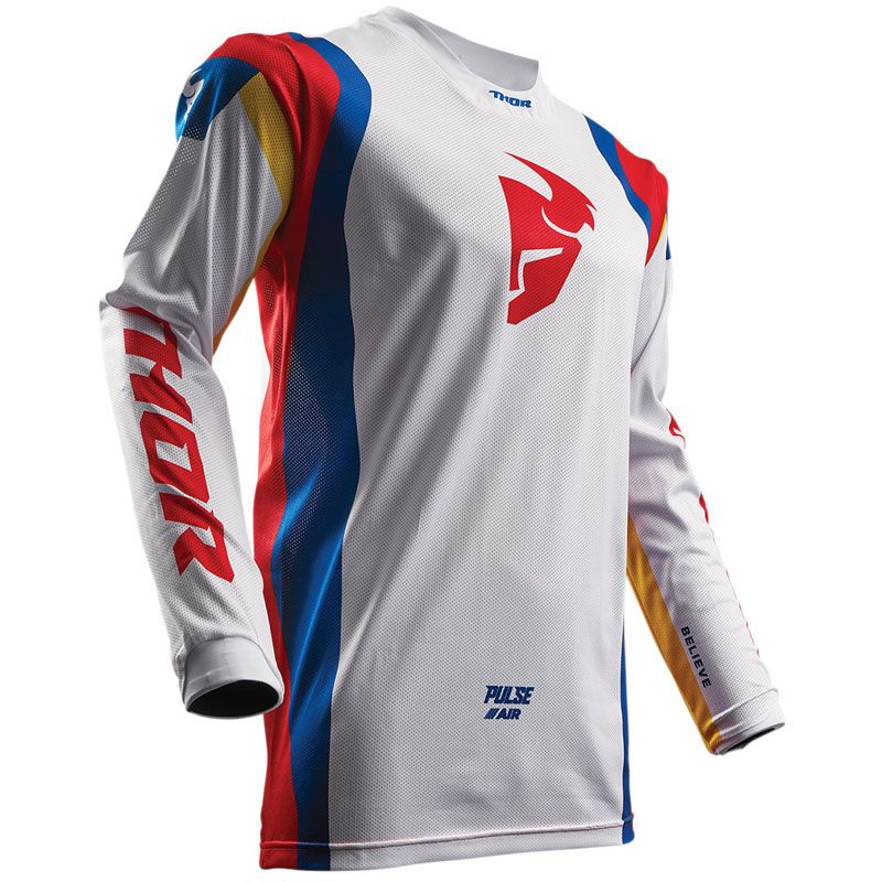 Maillot cross Thor Déstockage PULSE AIR PROFILE - BLANC MULTICOLOR -  2018