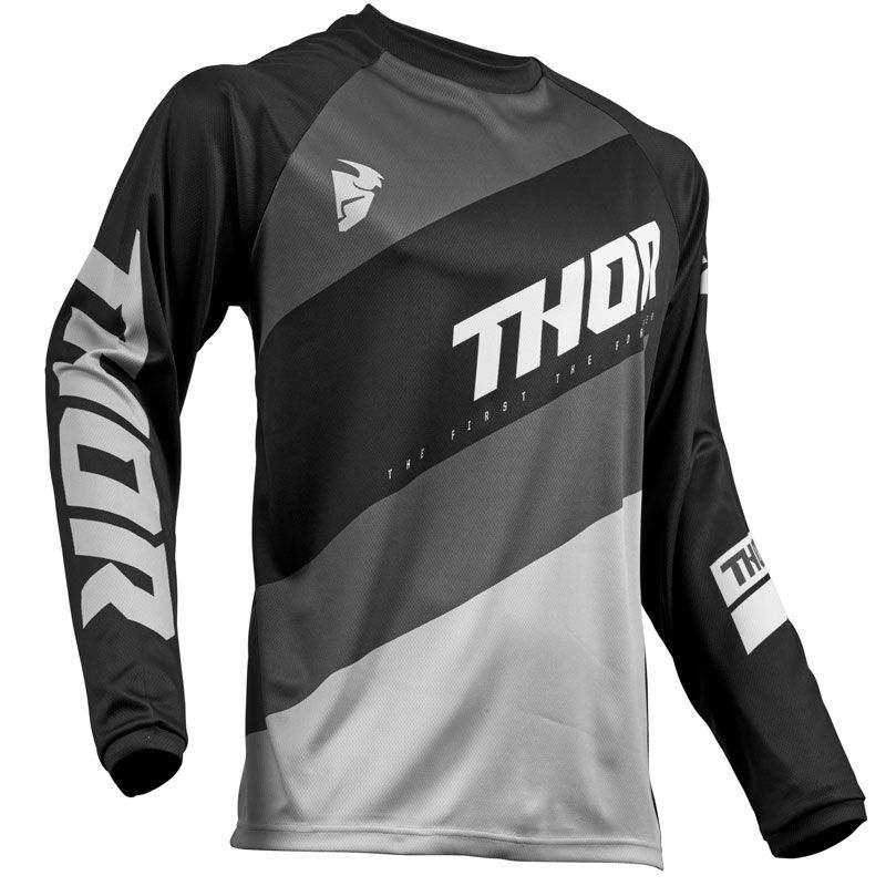 Maillot cross Thor SECTOR SHEAR BLACK GRAY 2019