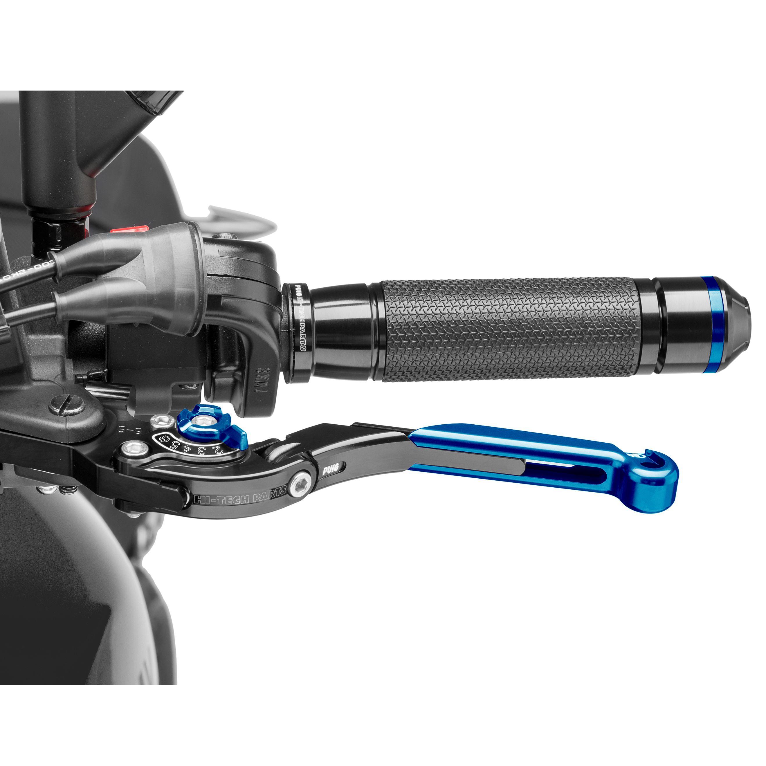levier d 39 embrayage puig rabattable extensible 2 0 bleu customisation moto. Black Bedroom Furniture Sets. Home Design Ideas