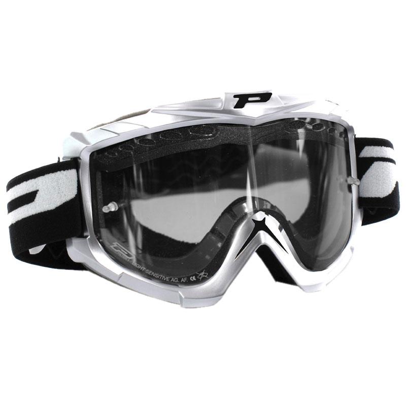 Masque Cross Progrip 3302 Sport Line Argent