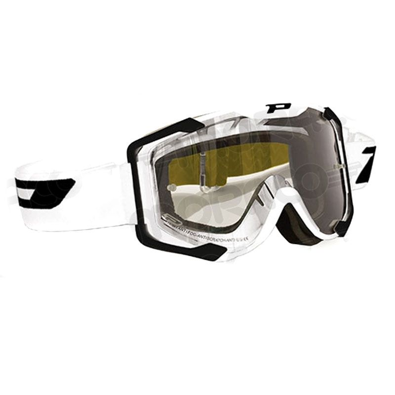 Masque Cross Progrip 3408 Blanc Kit Roll Off Xl