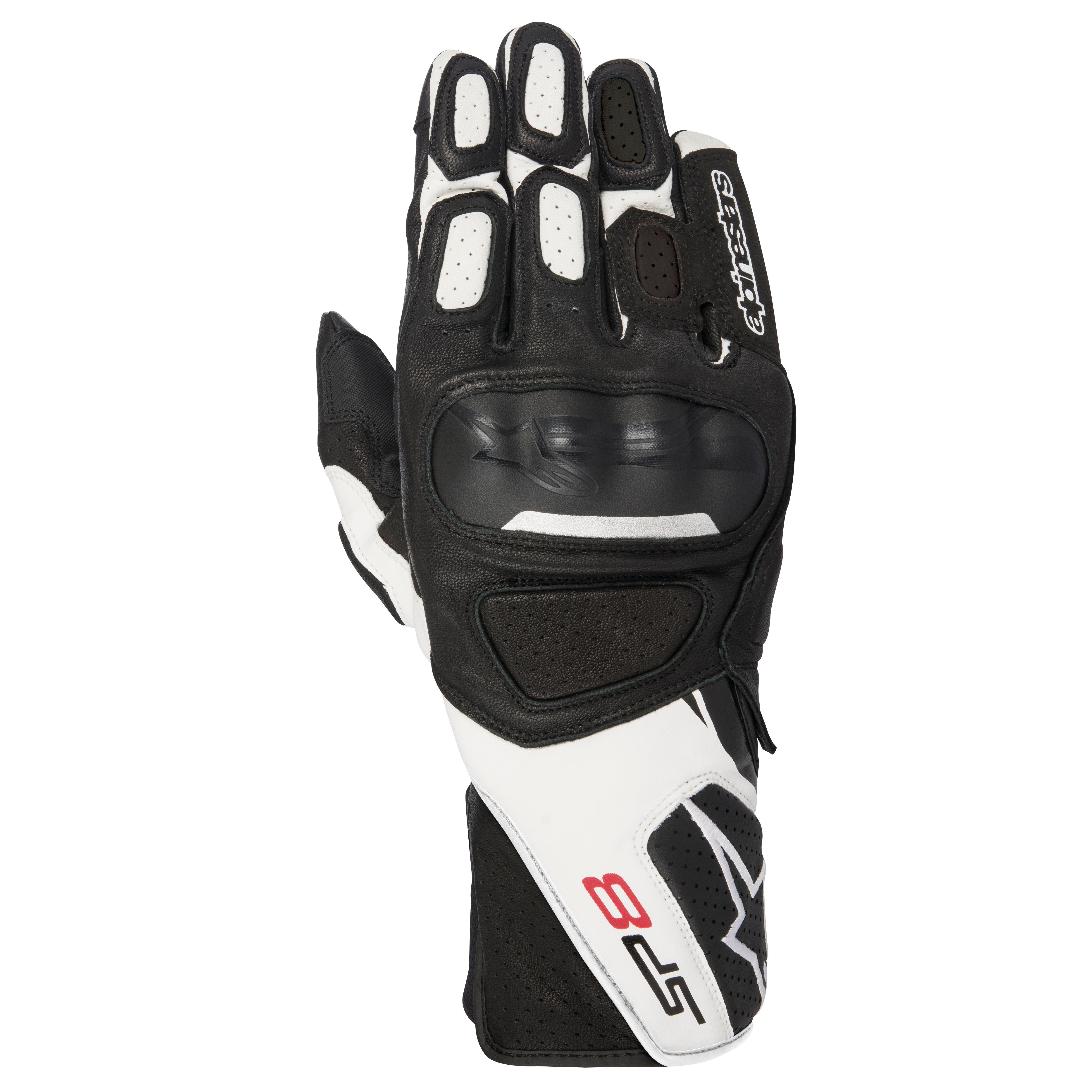 Alpinestars Gants moto Sp-8 V2 Gloves Black White Yellow Fluo Noir//Blanc//Jaune XL