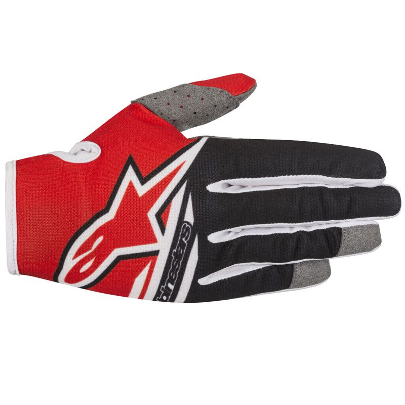 Gants cross Alpinestars RADAR FLIGHT RED BLACK  2018
