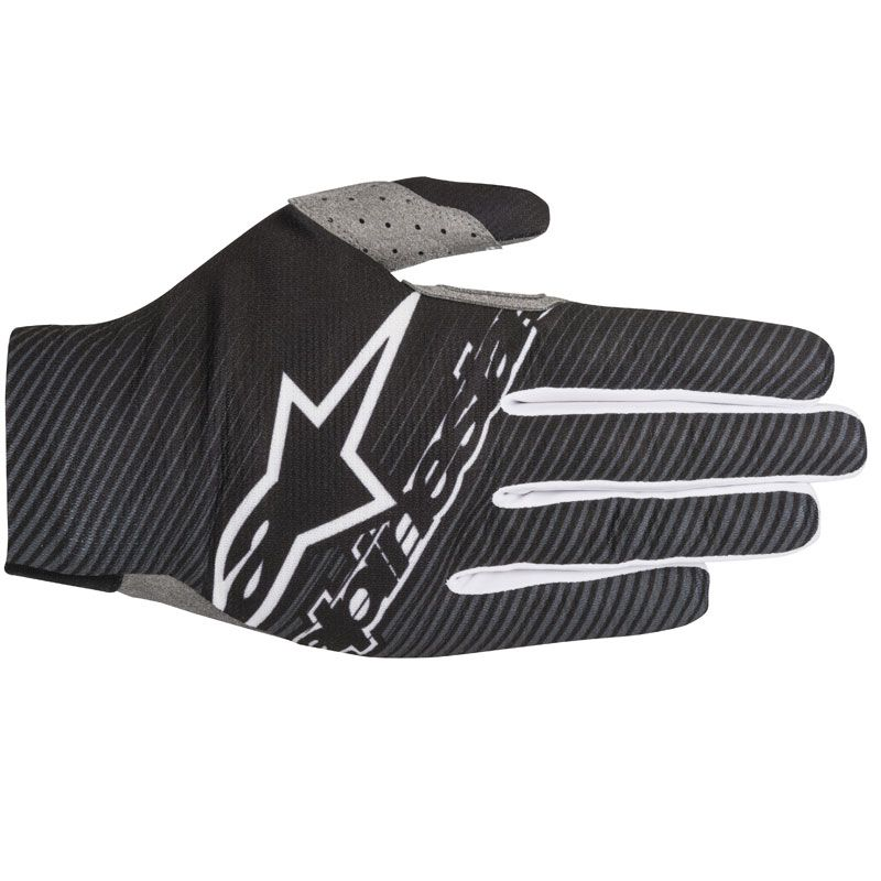 Gants cross Alpinestars DUNE-1 BLACK WHITE  2018